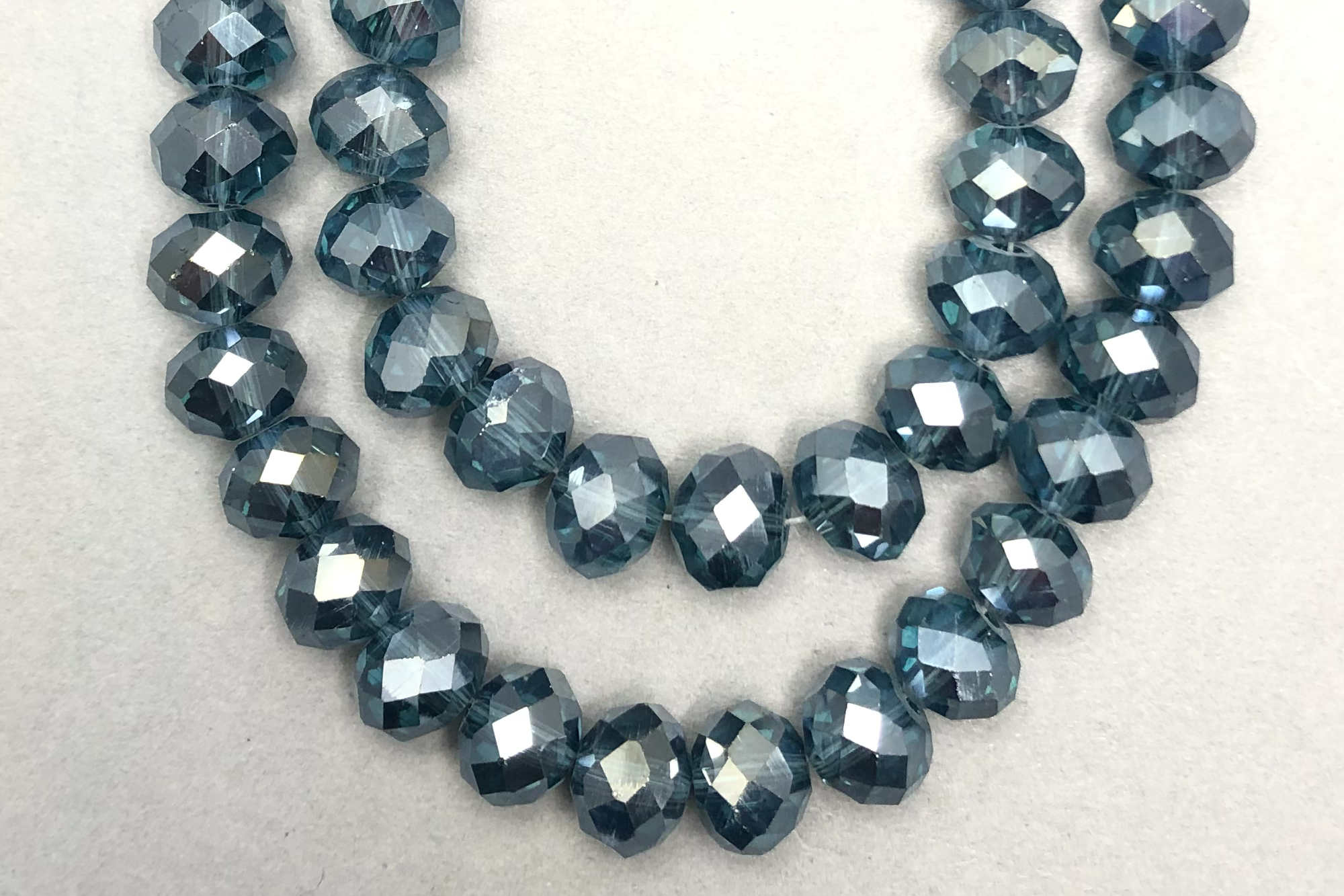 Silver Midnight Faceted Glass Beads *NEW*