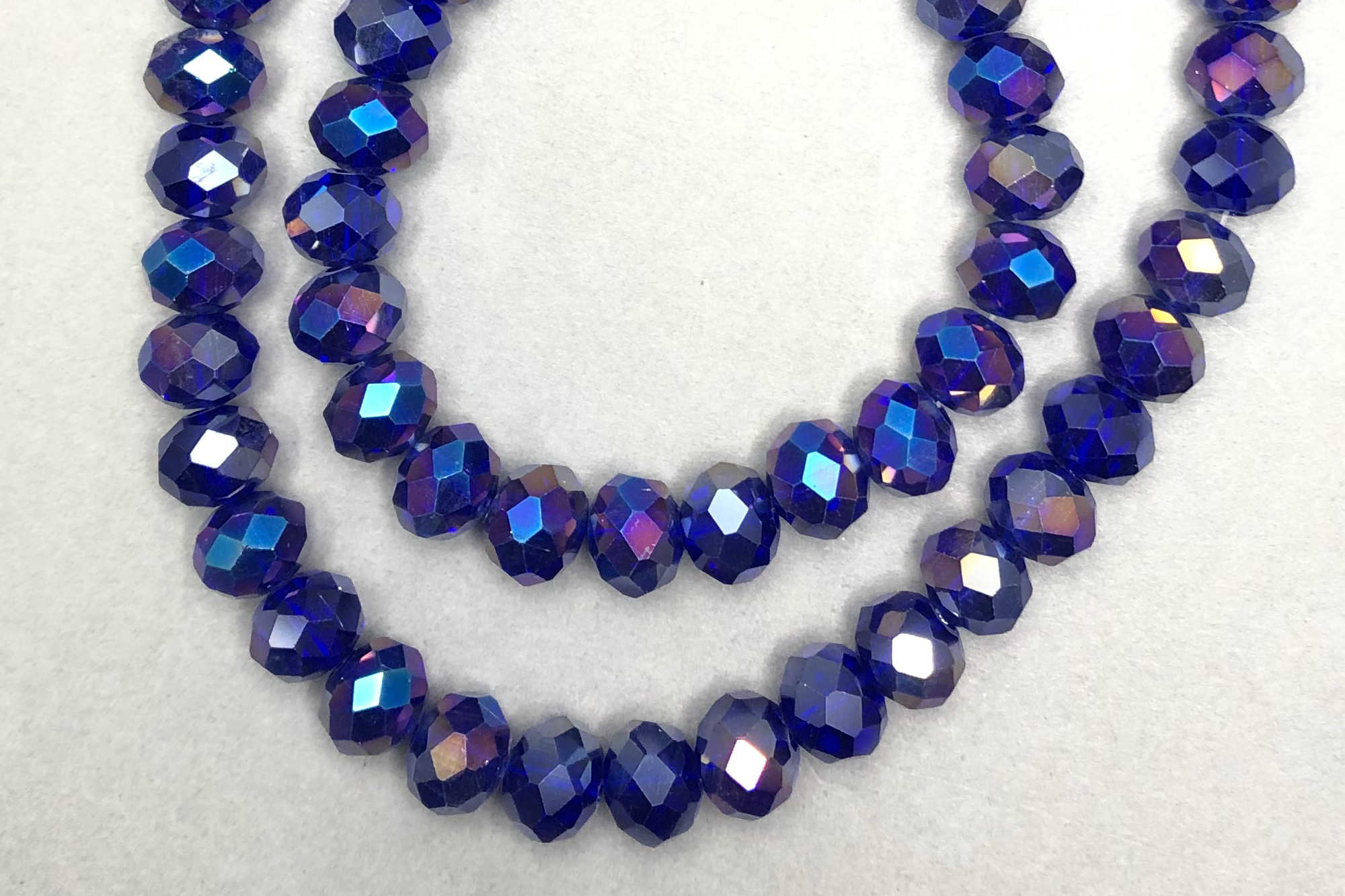 AB Sapphire Faceted Glass Beads *NEW*
