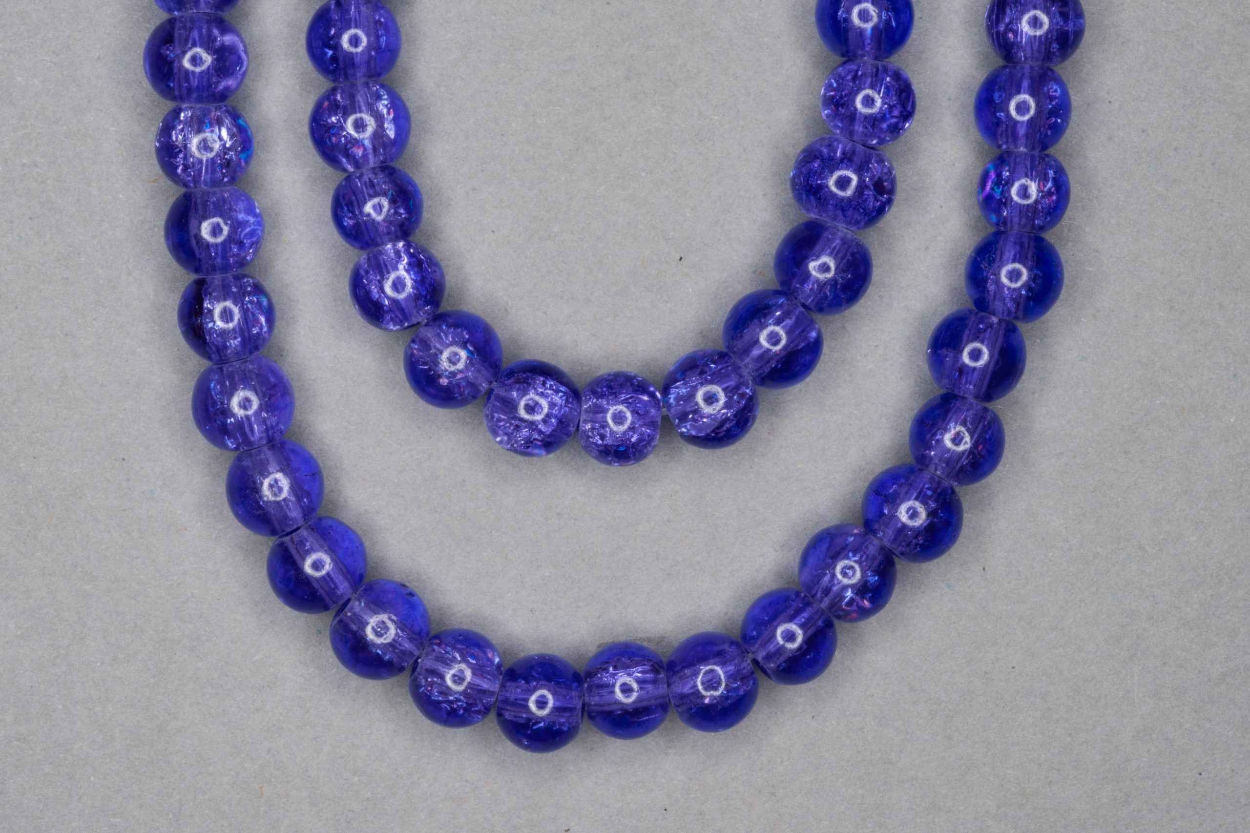Amethyst Crackle Glass Beads
