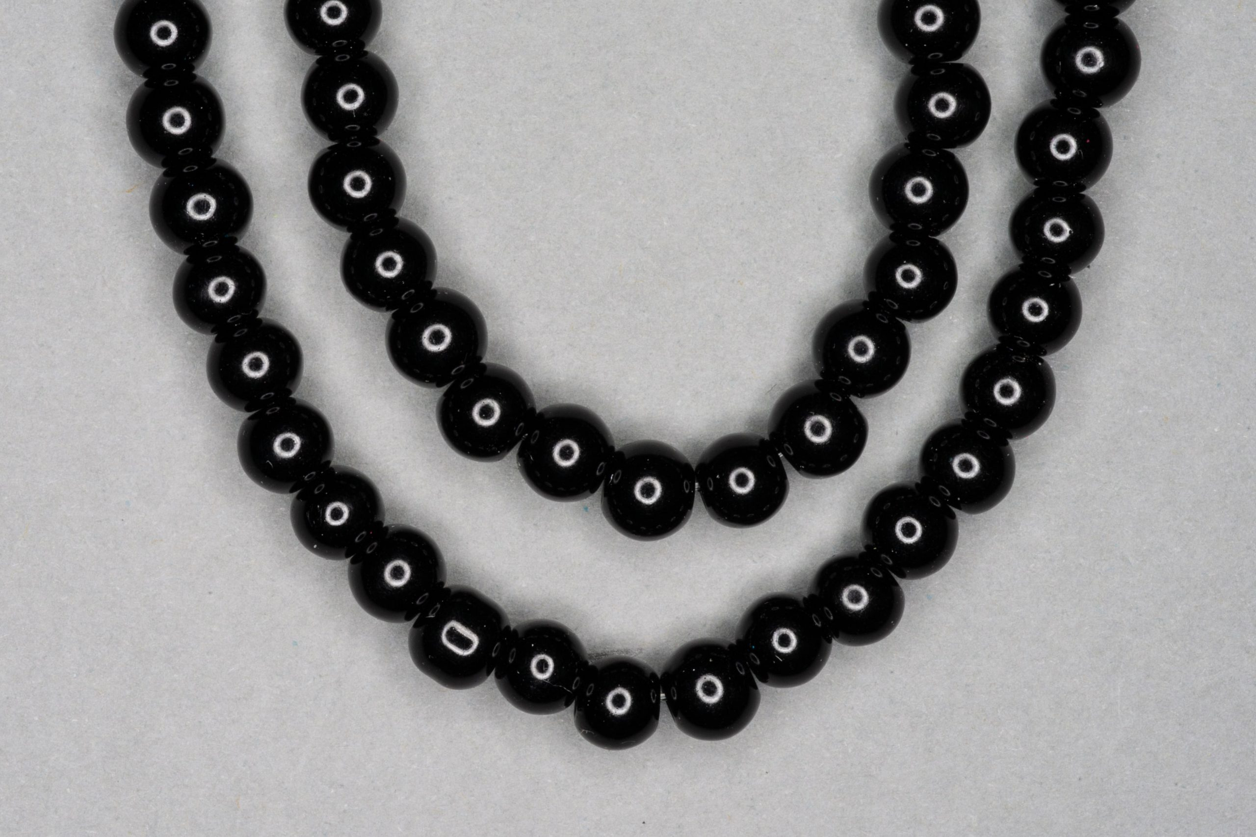 Solid Black Glass Beads