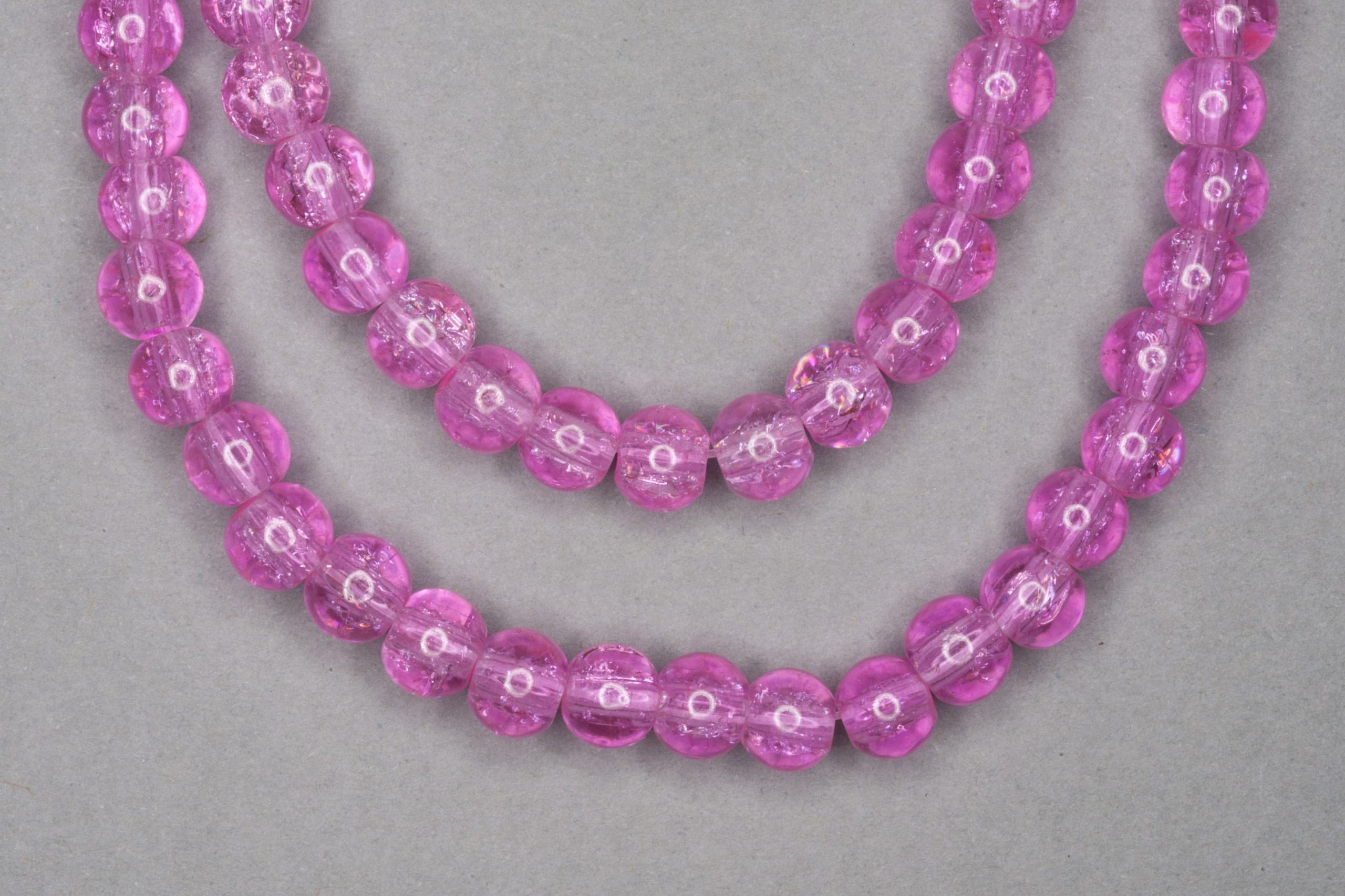 Bubblegum Crackle Glass Beads