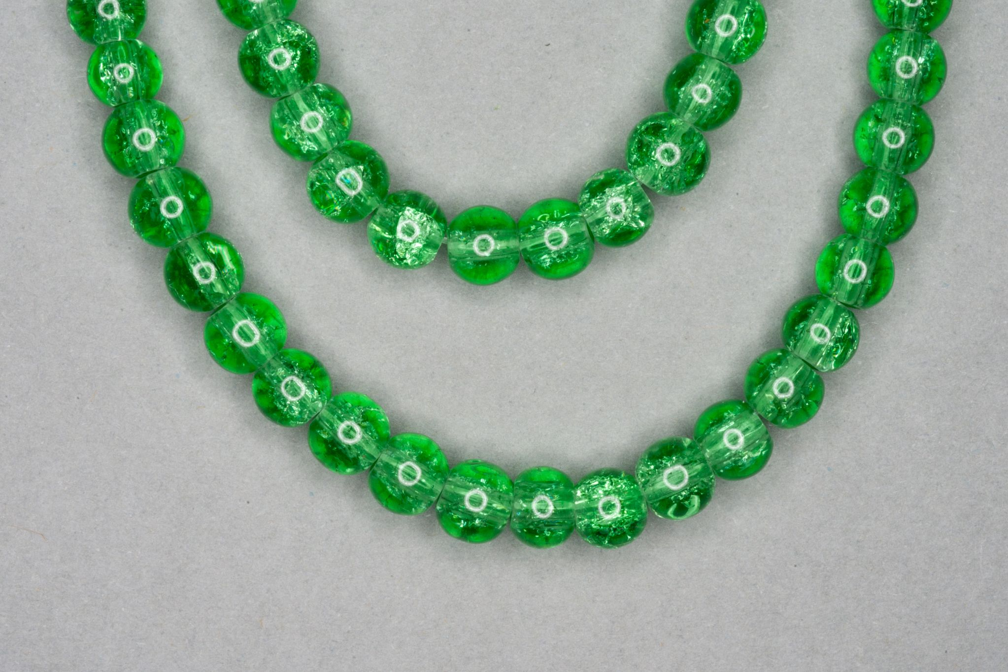 Light Green Crackle Glass Beads