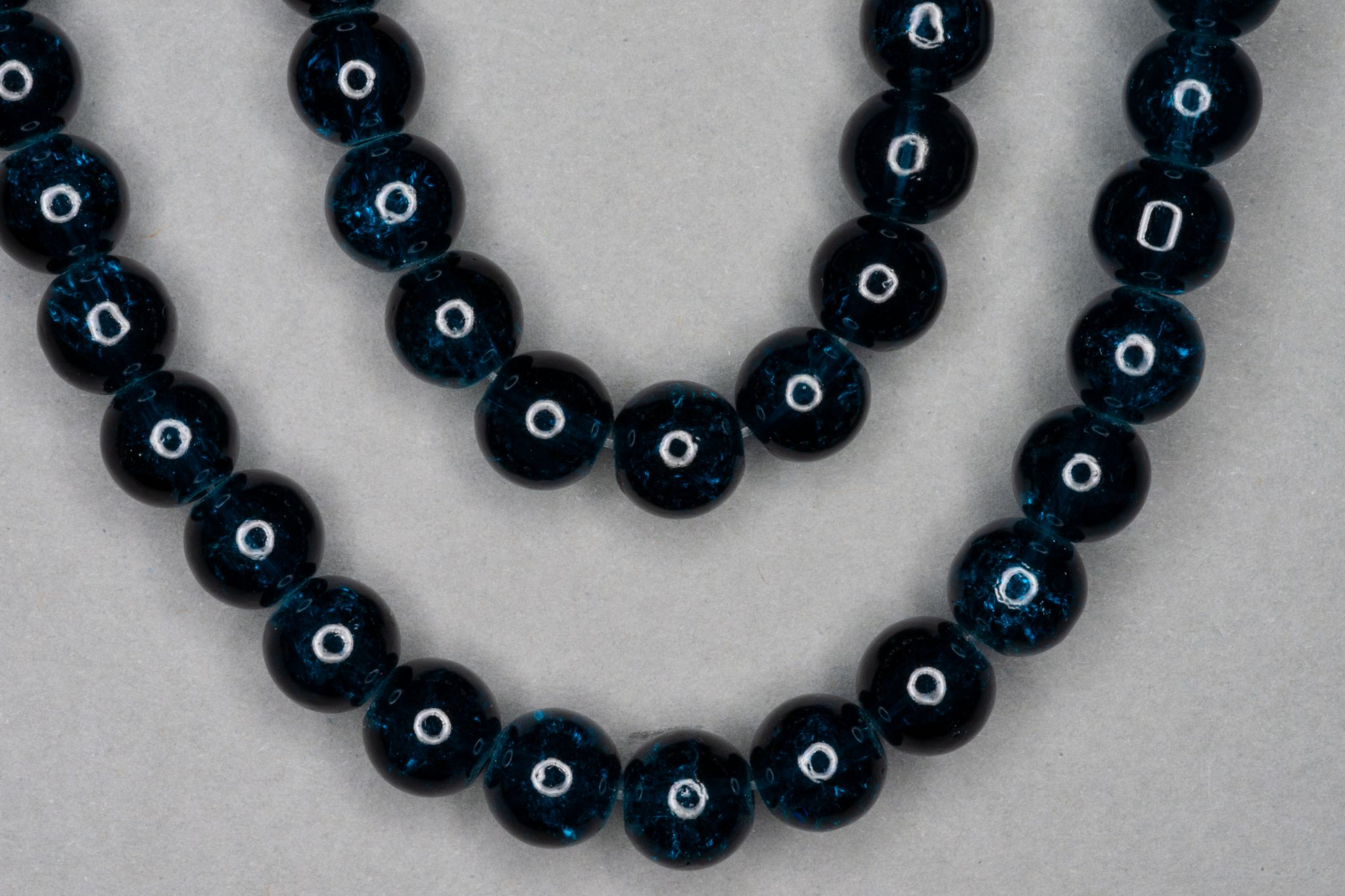 Midnight Blue Crackle Glass Beads