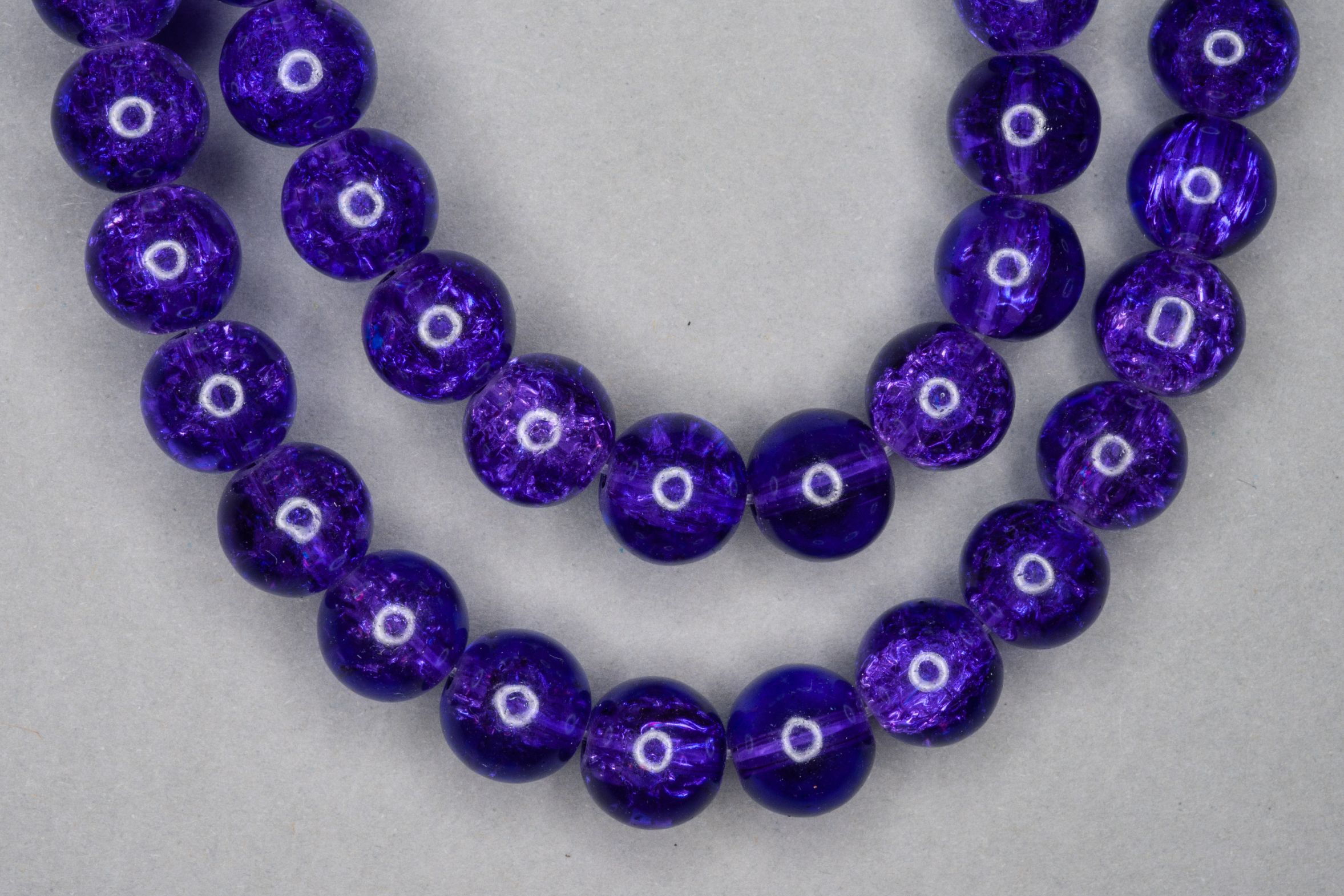 Purple Crackle Glass Beads