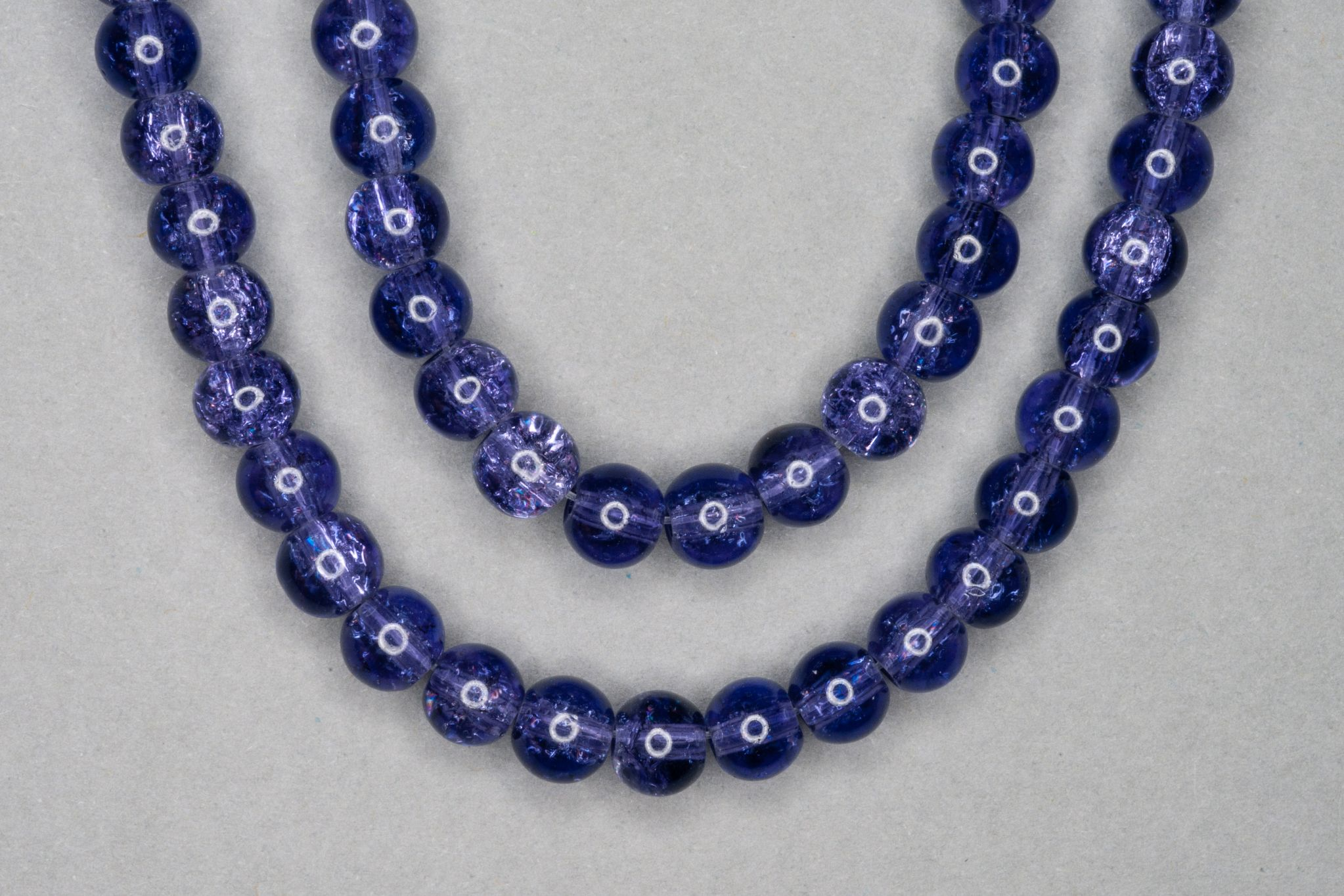 Slate Purple Crackle Glass Beads