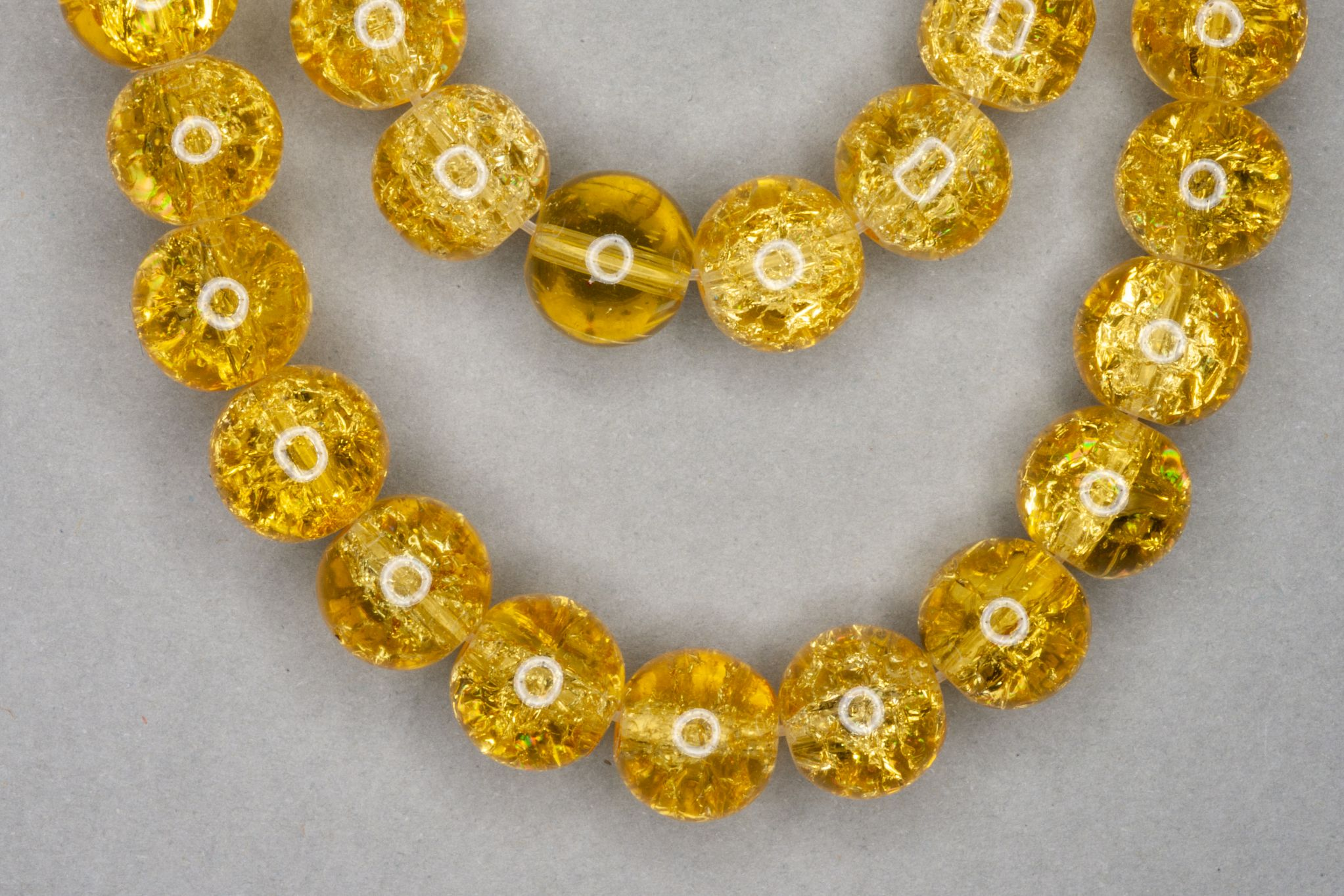 Sun Crackle Glass Beads