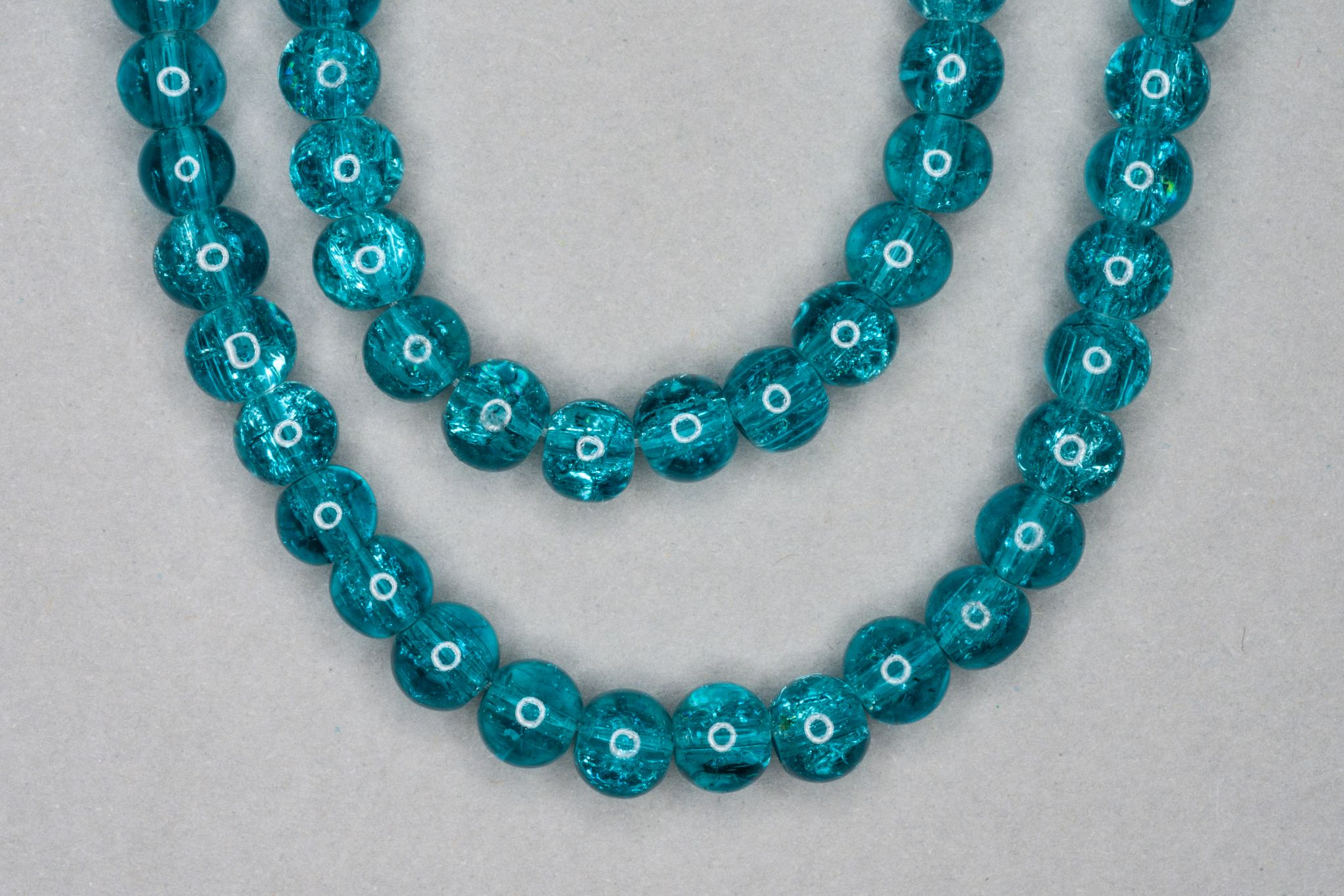 Teal Crackle Glass Beads