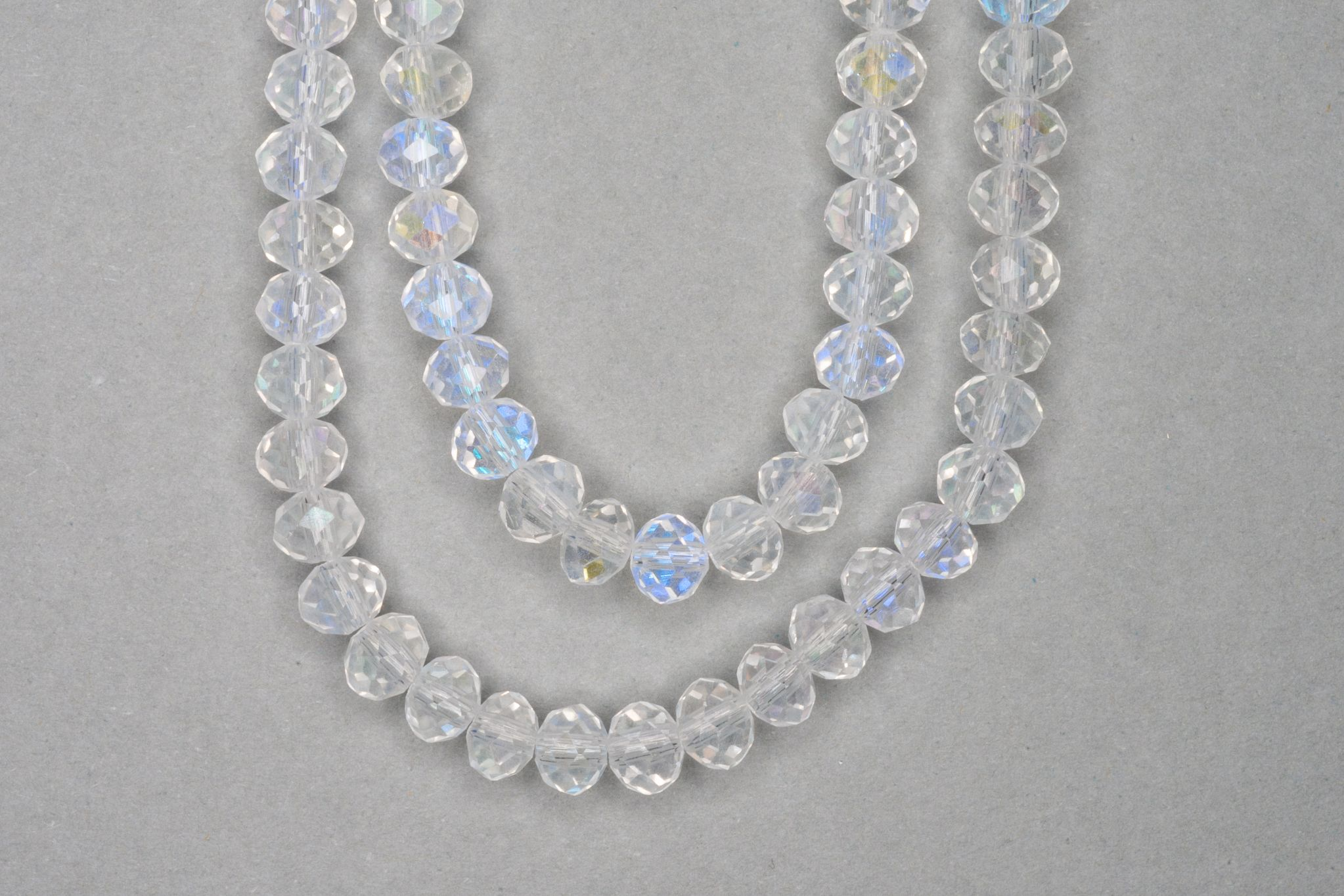 AB Clear Faceted Glass Beads