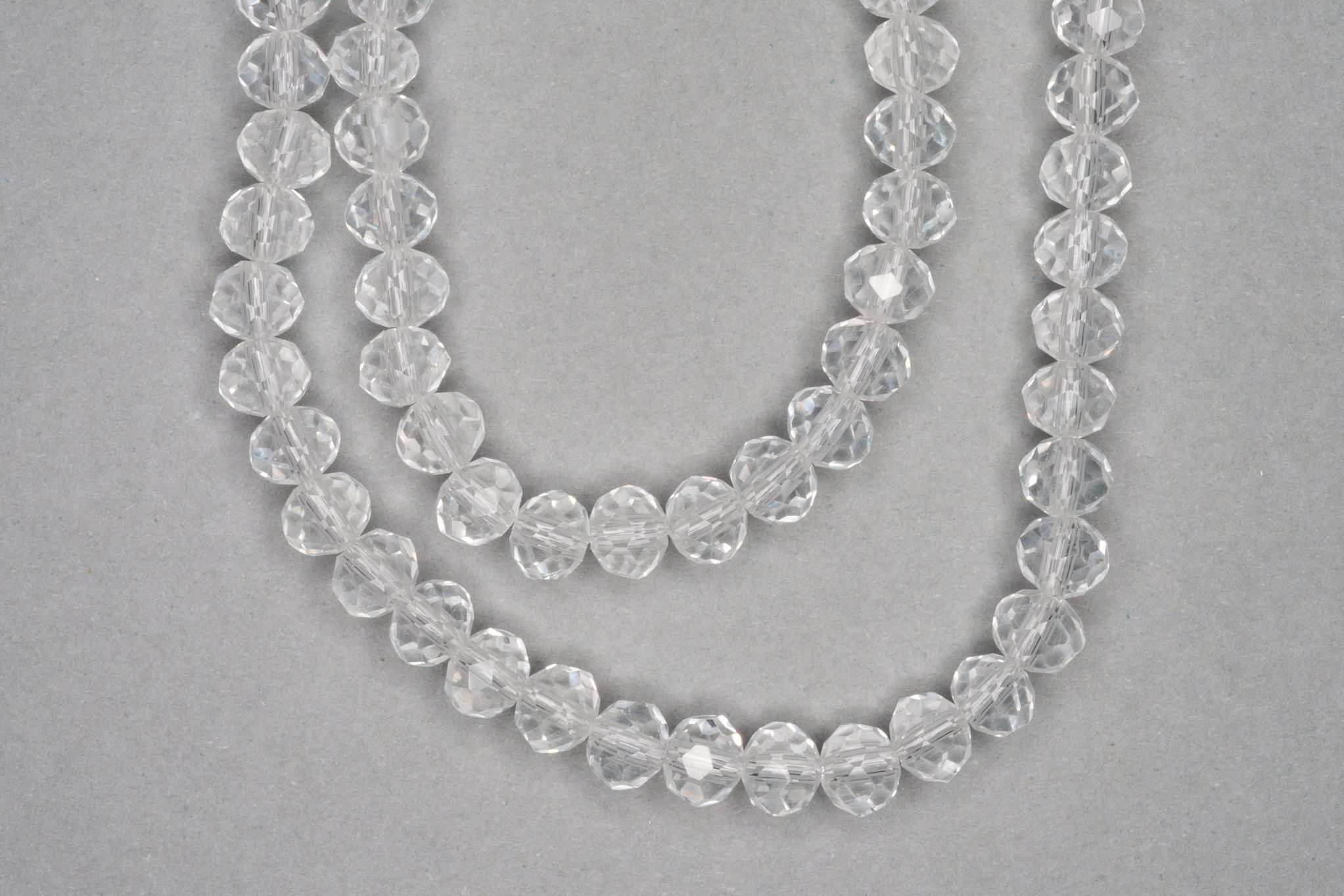 Clear Faceted Glass Beads