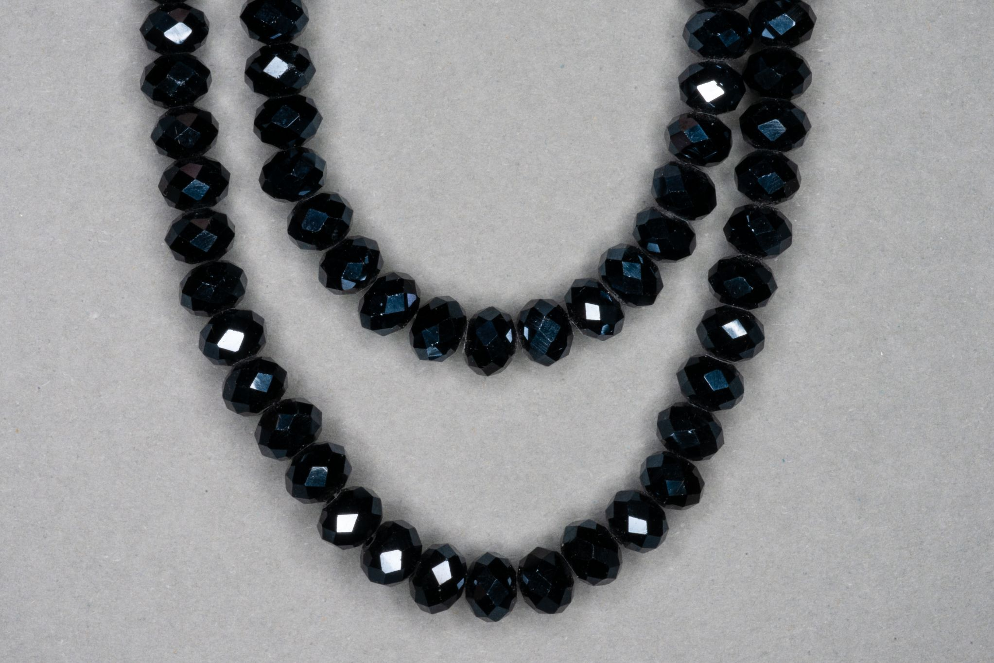 Gunmetal Faceted Glass Beads