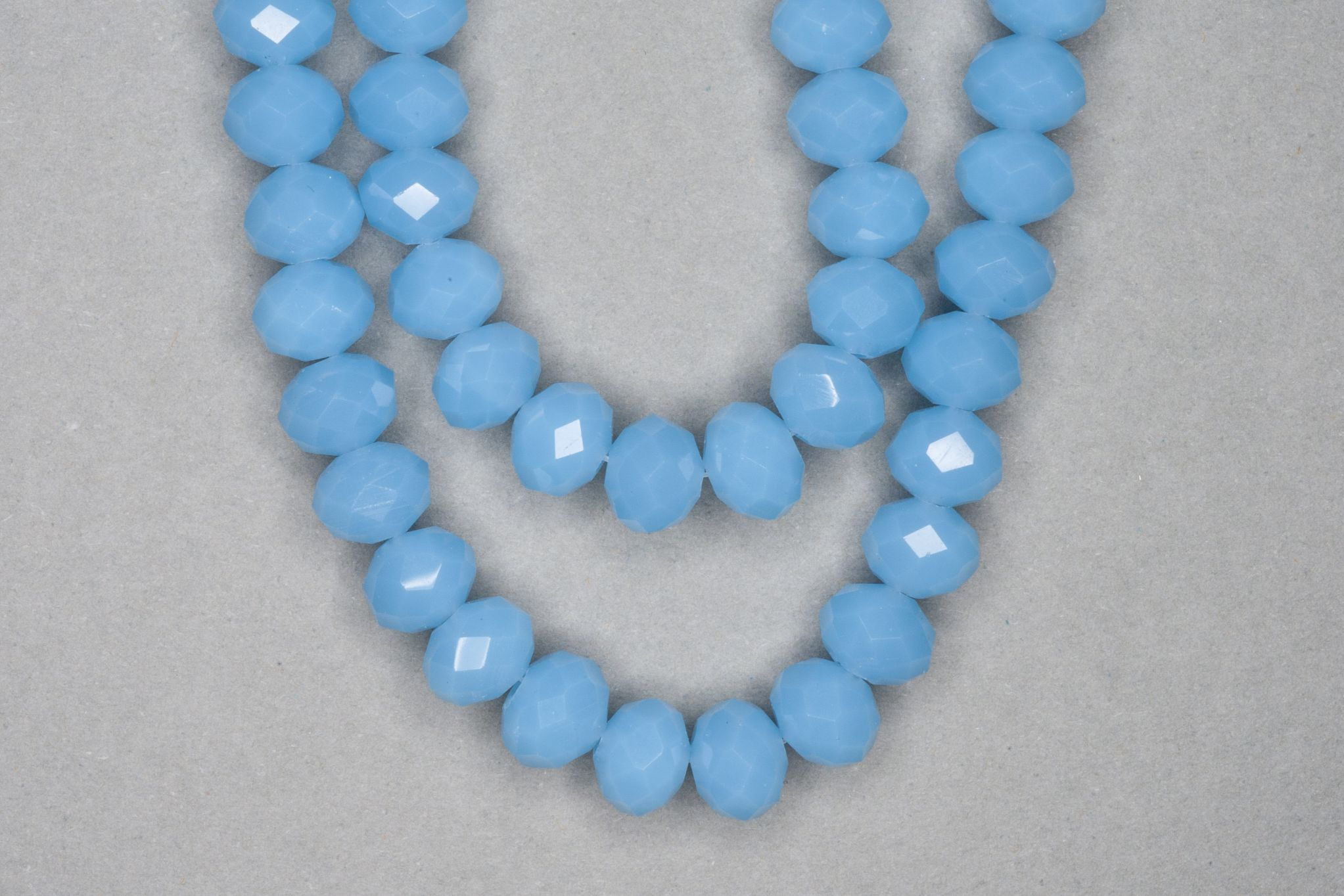 Opaque Cornflower Faceted Glass Beads