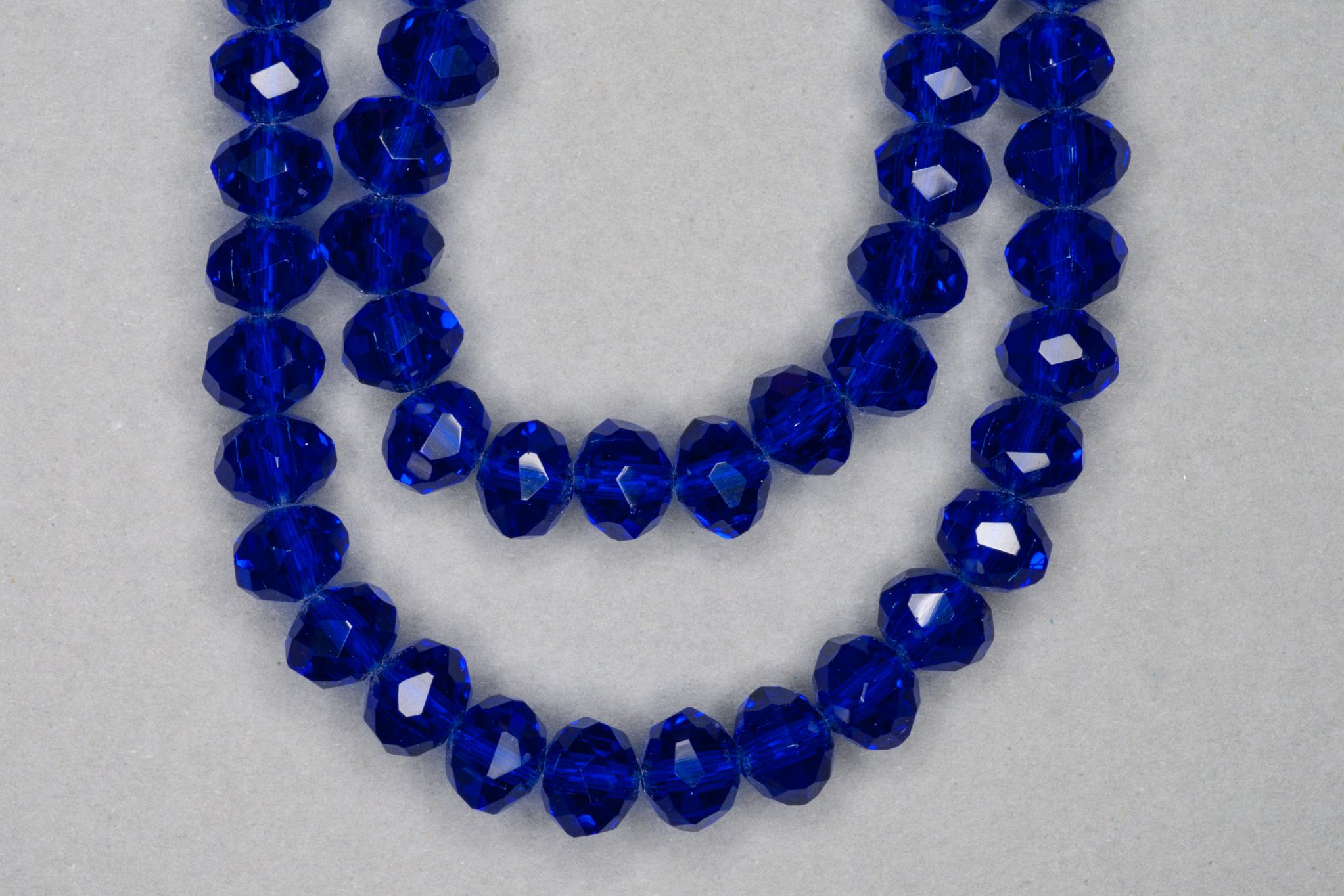 Sapphire Faceted Glass Beads