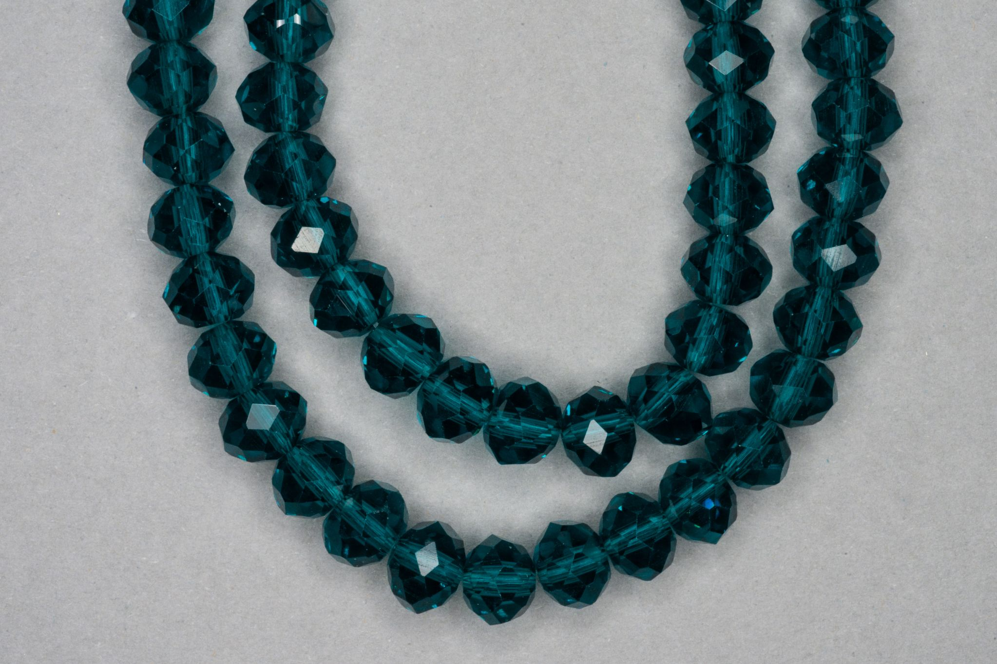 Teal Faceted Glass Beads