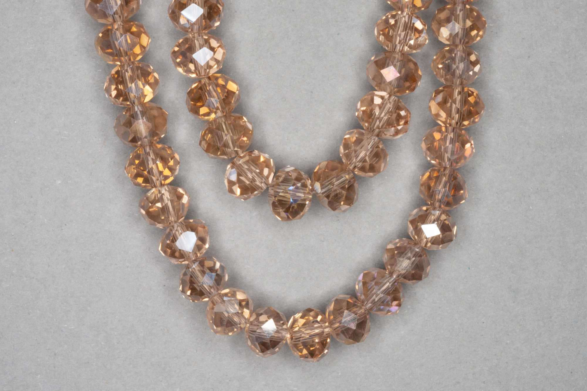 AB Champagne Faceted Glass Beads