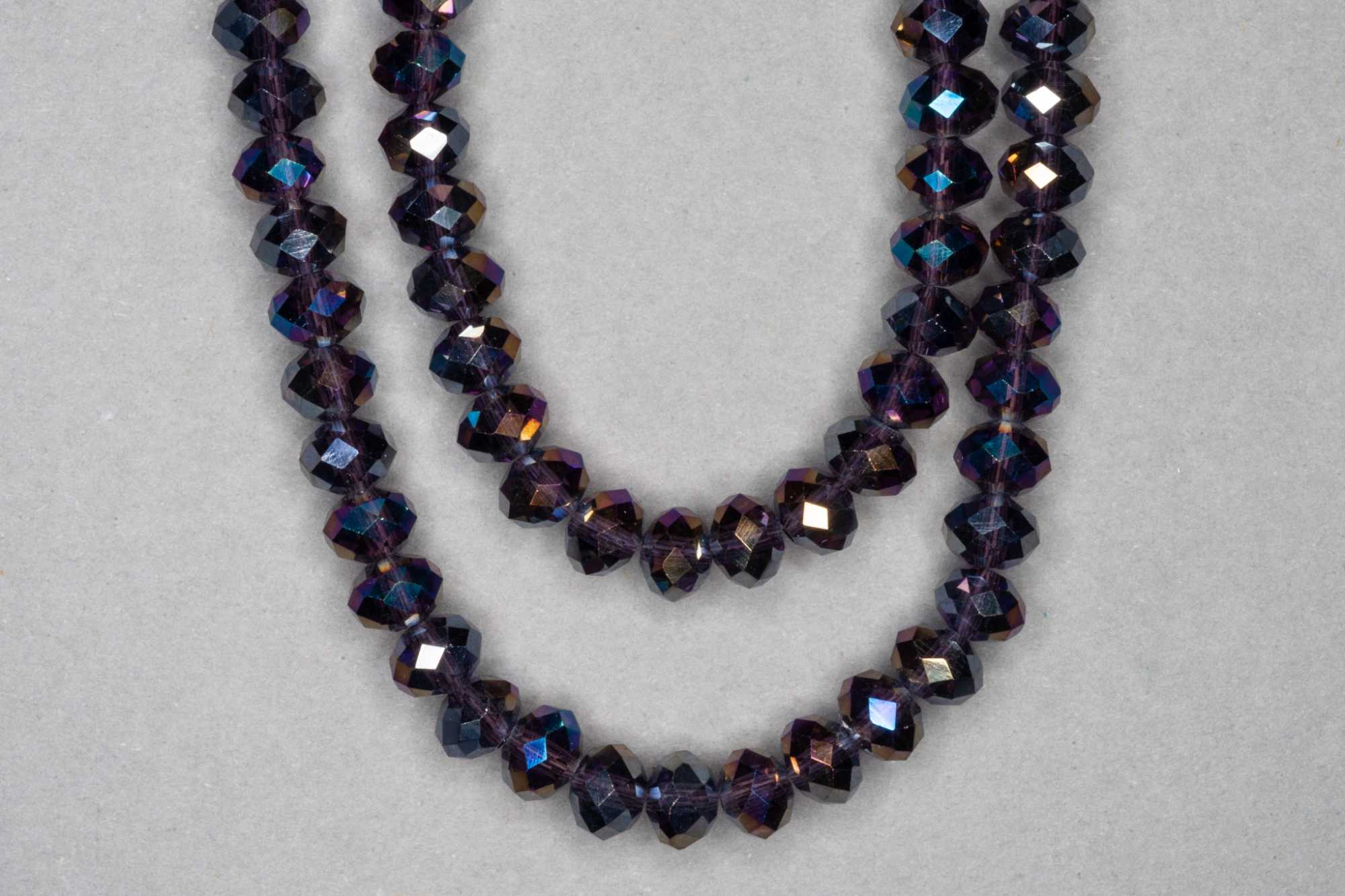 AB Grape Faceted Glass Beads