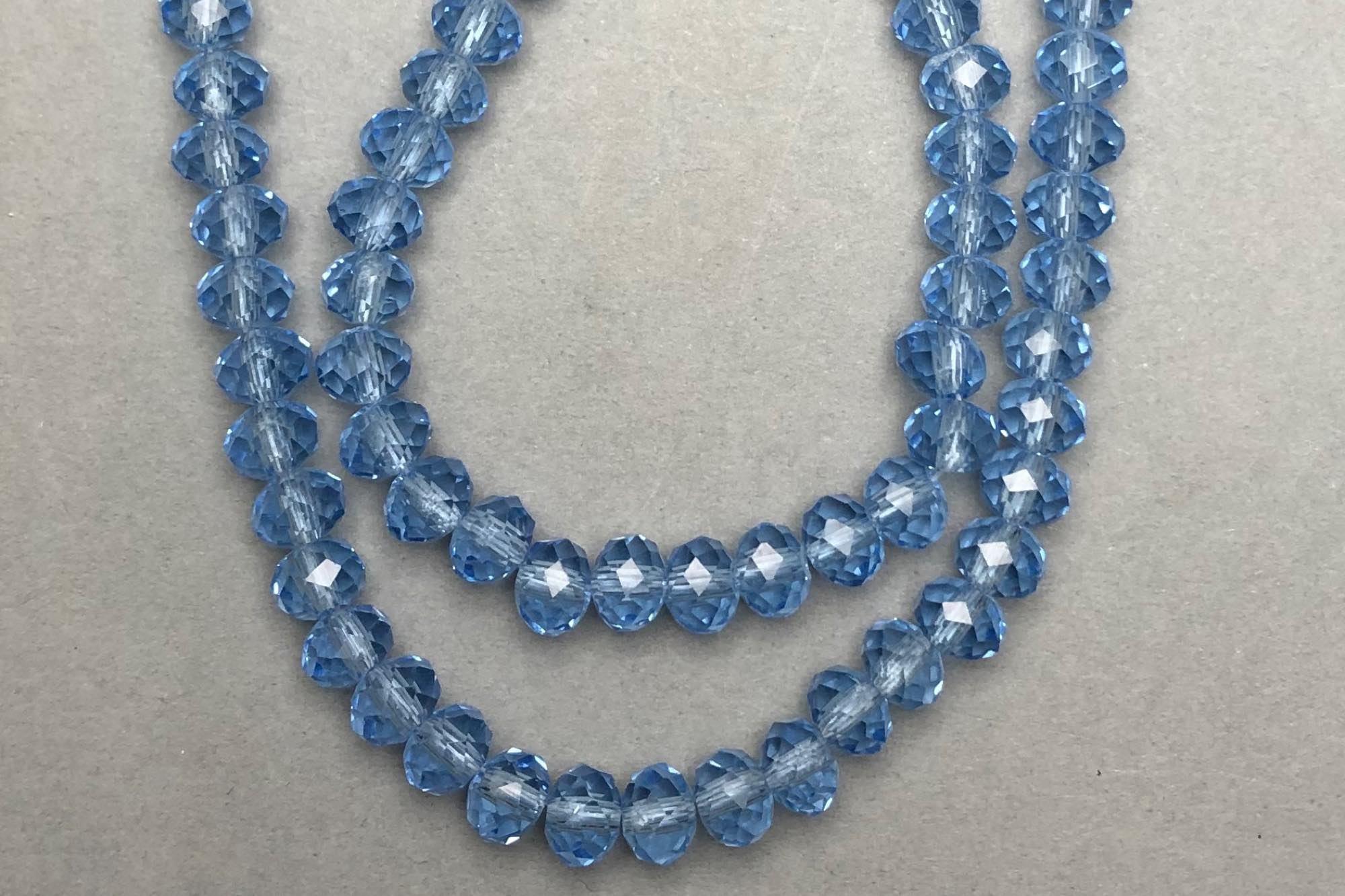 Cornflower Faceted Glass Beads