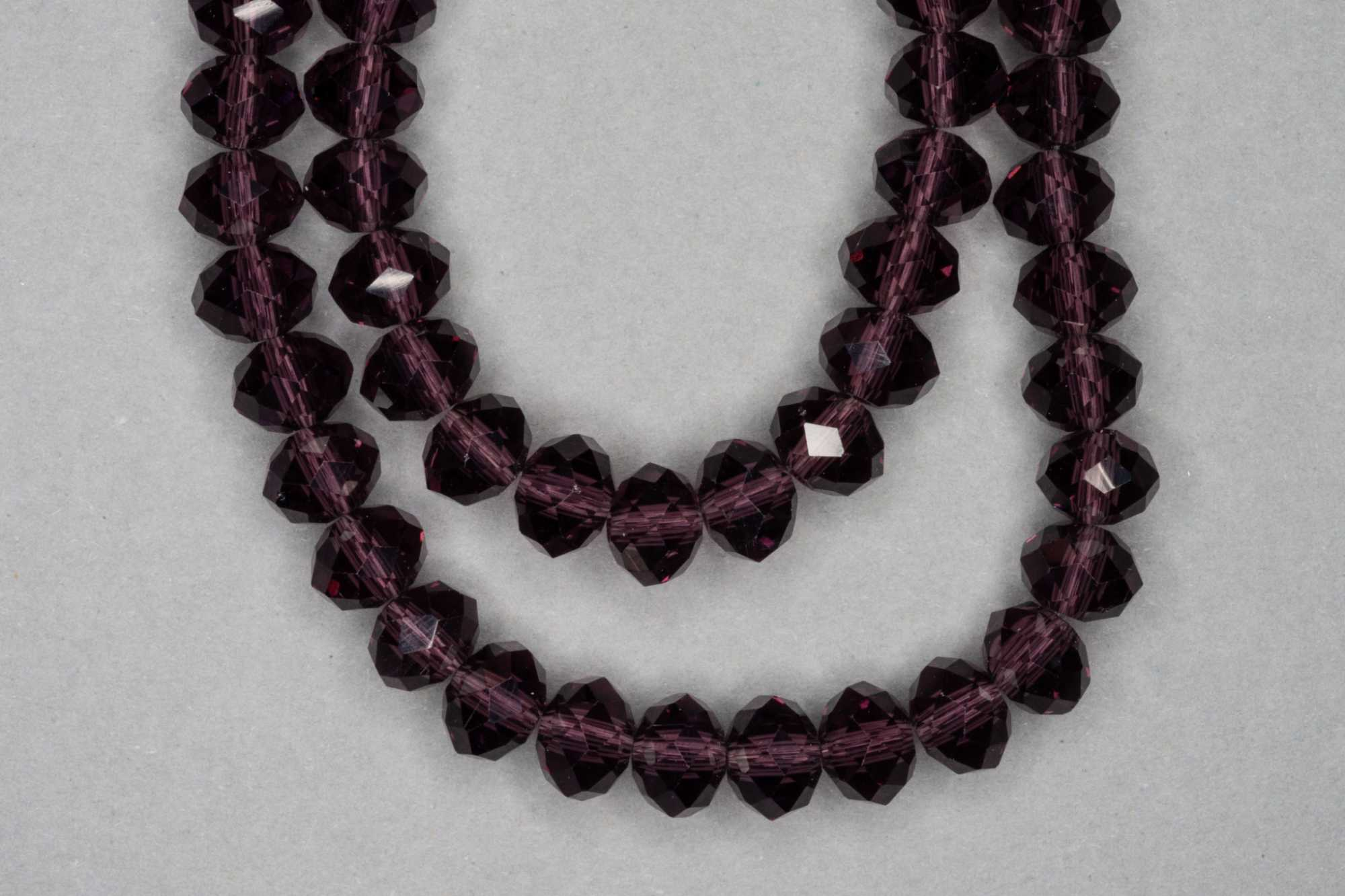 Dark Mulberry Faceted Glass Beads