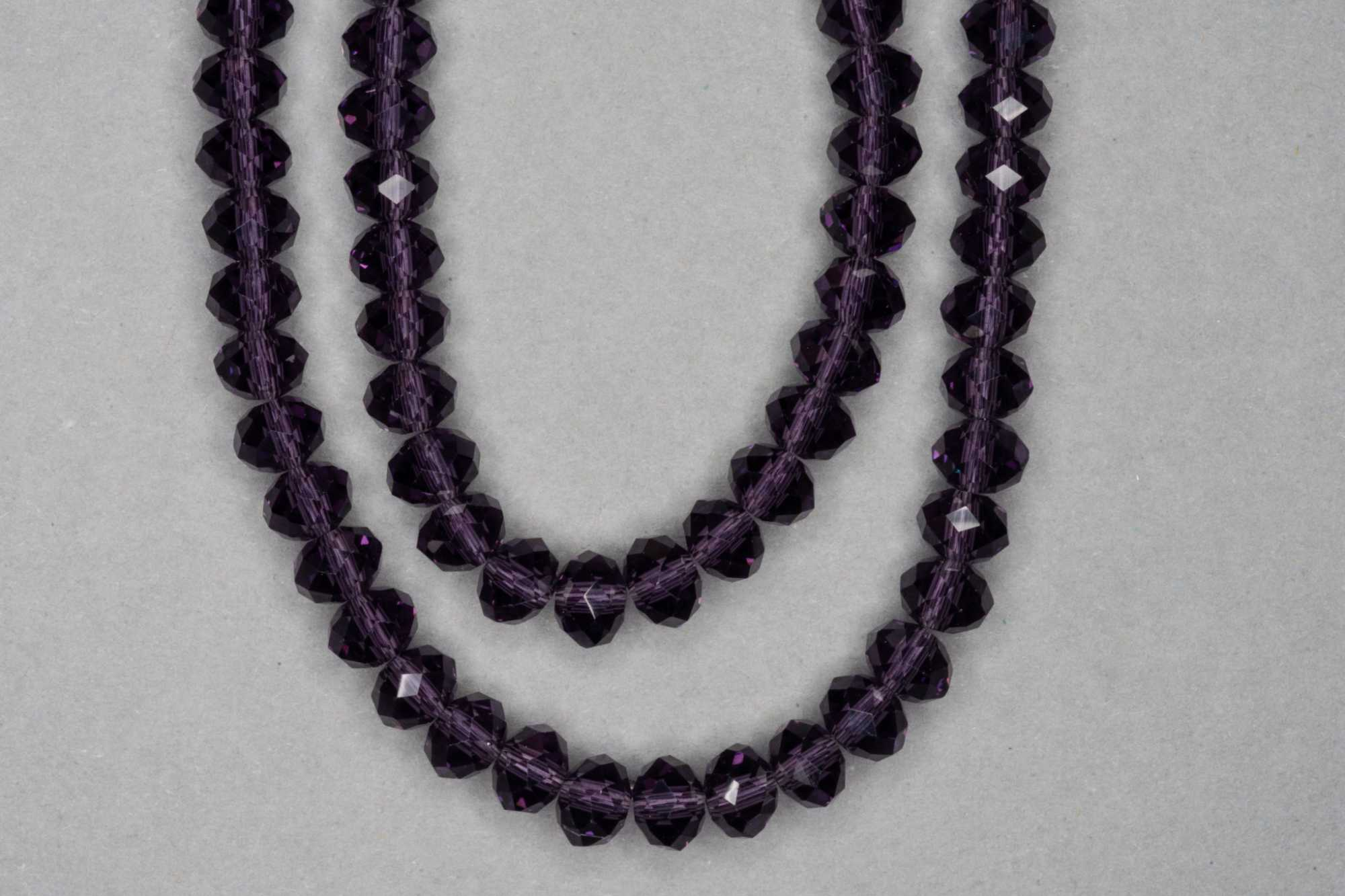 Grape Faceted Glass Beads