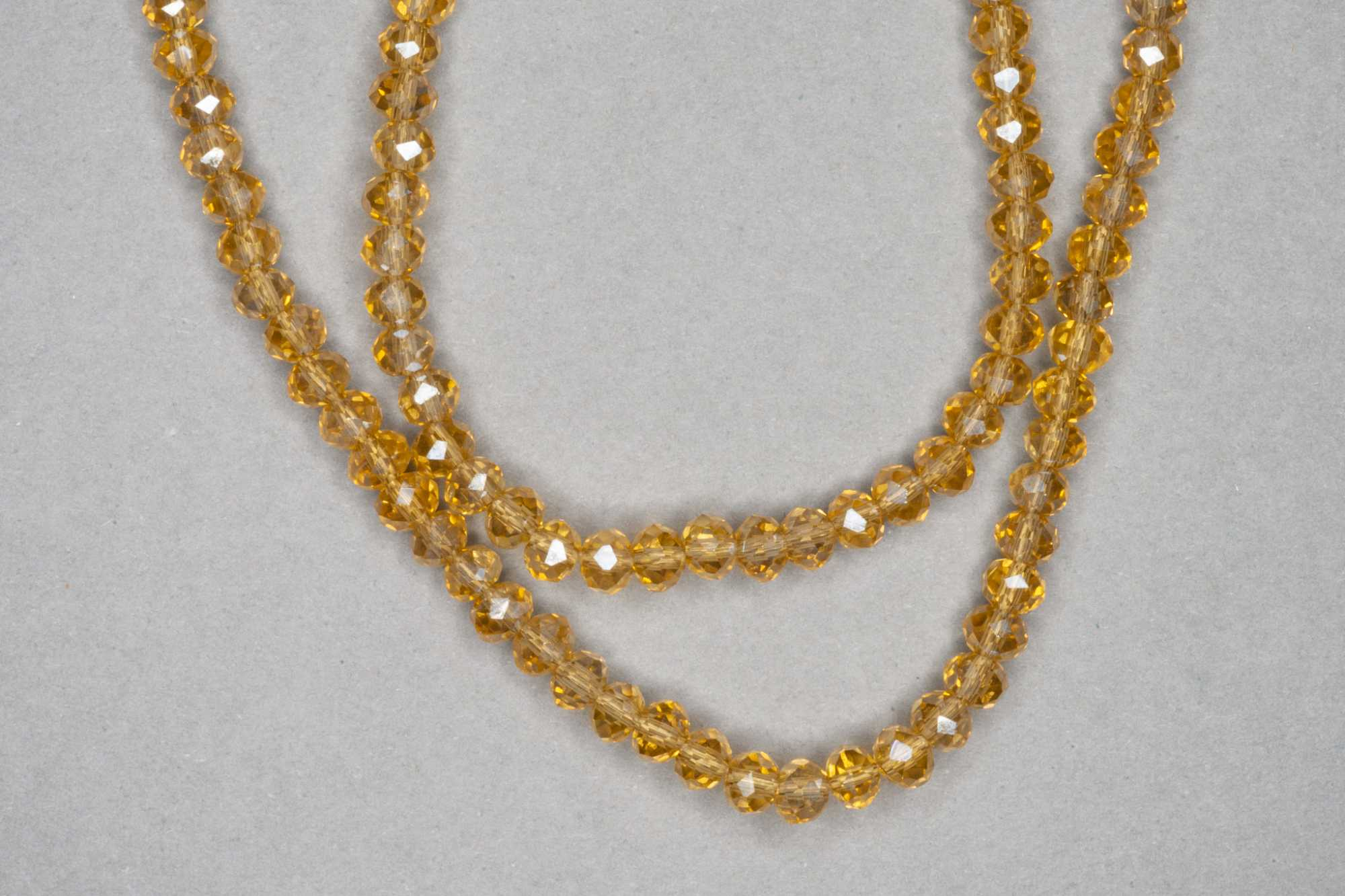 Honey Faceted Glass Beads