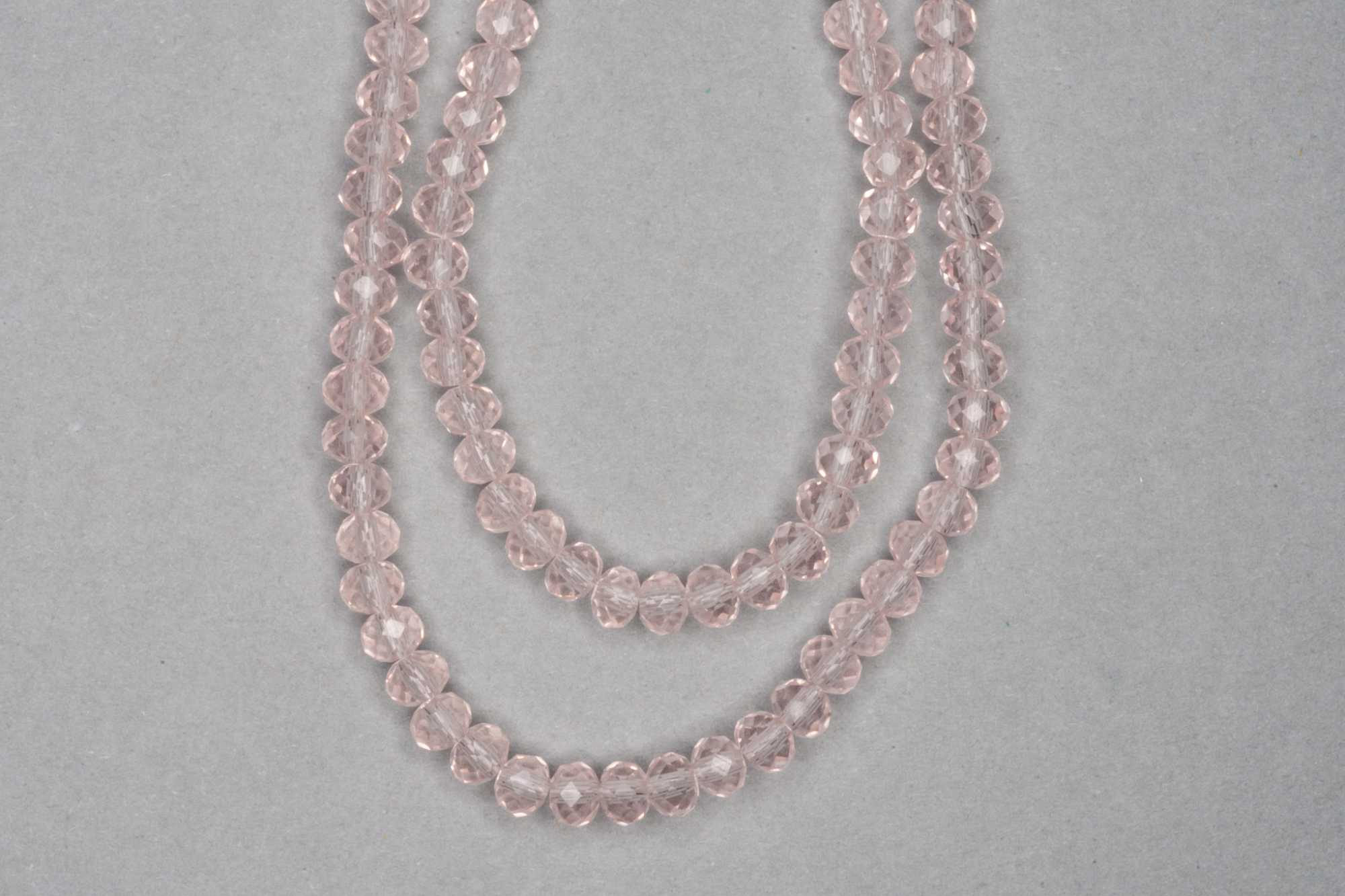 Light Flesh Pink Faceted Glass Beads
