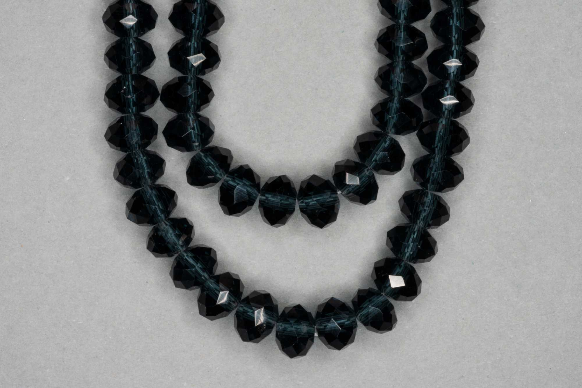 Midnight Faceted Glass Beads