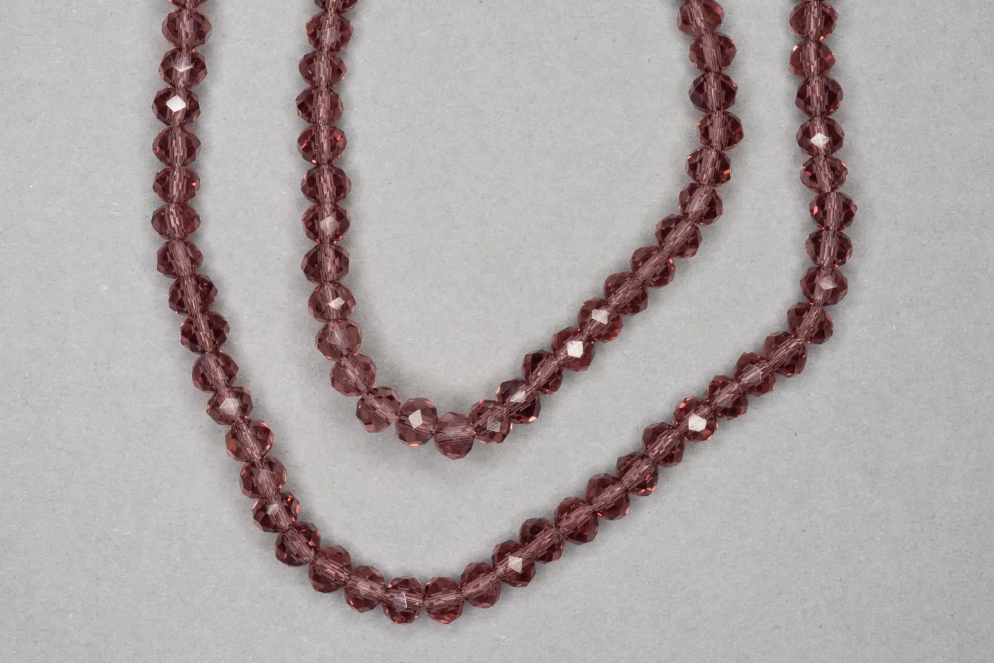 Mulberry Faceted Glass Beads