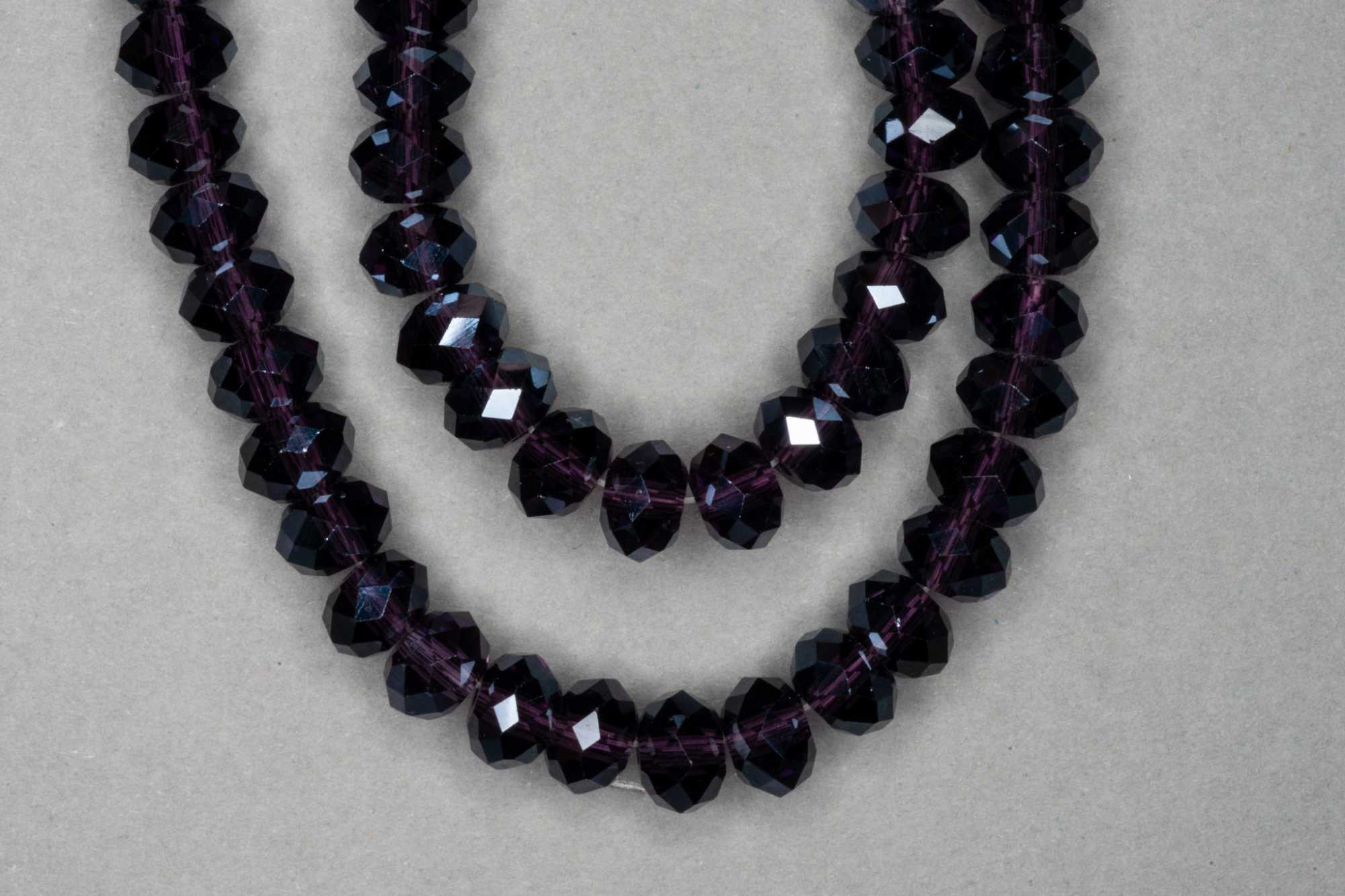 Silver Grape Faceted Glass Beads