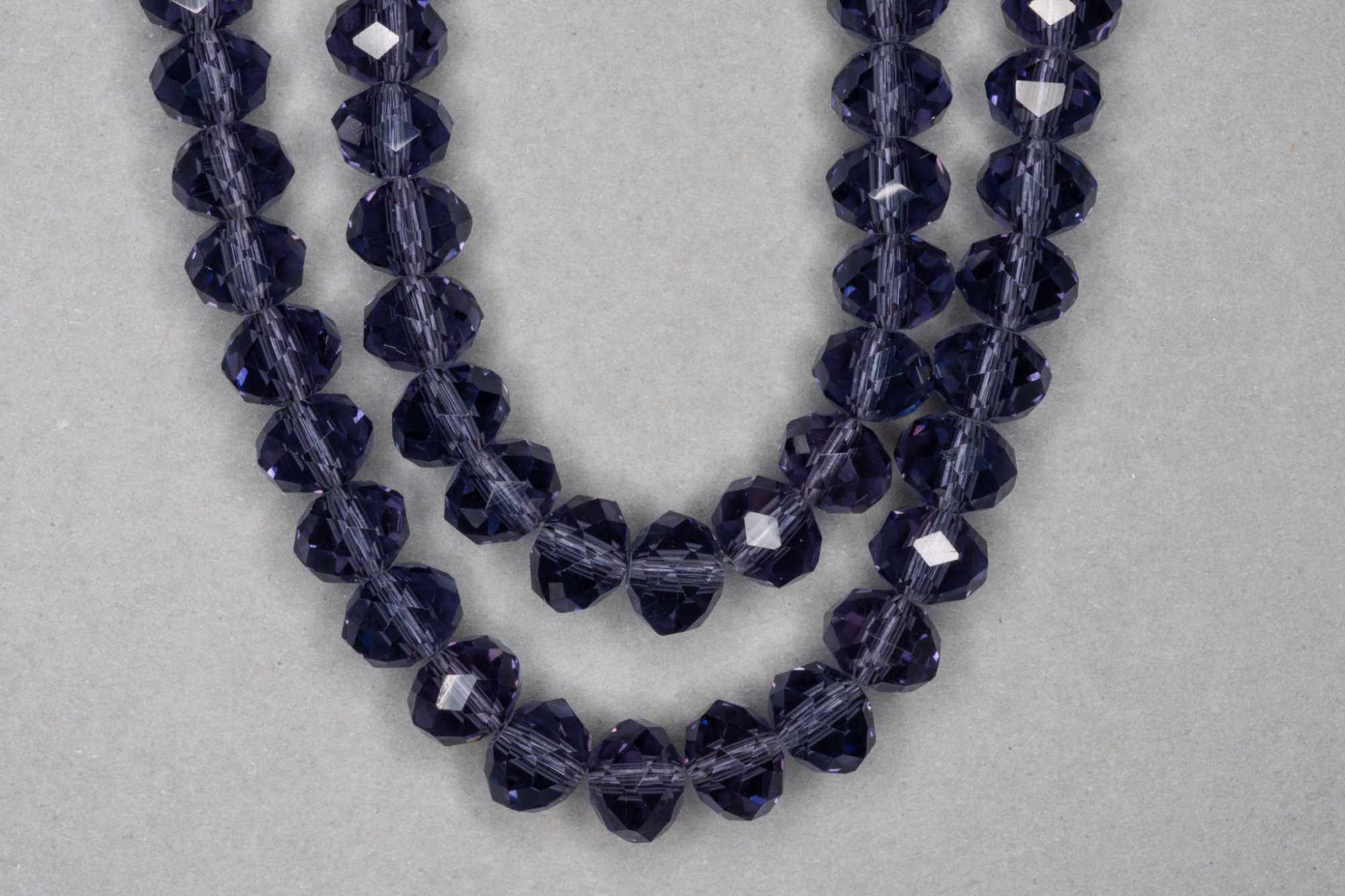 Slate Purple Faceted Glass Beads