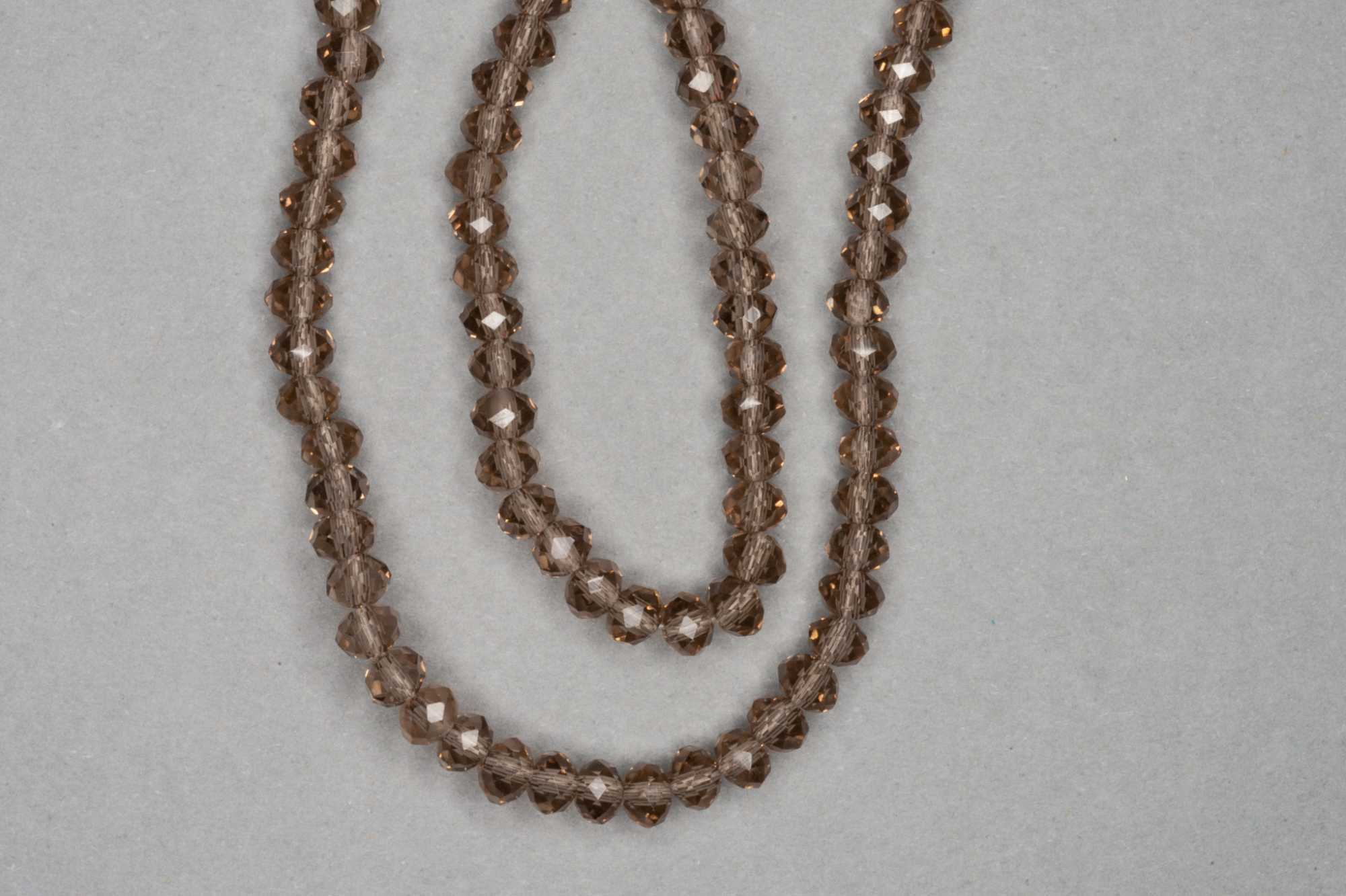 Smokey Faceted Glass Beads