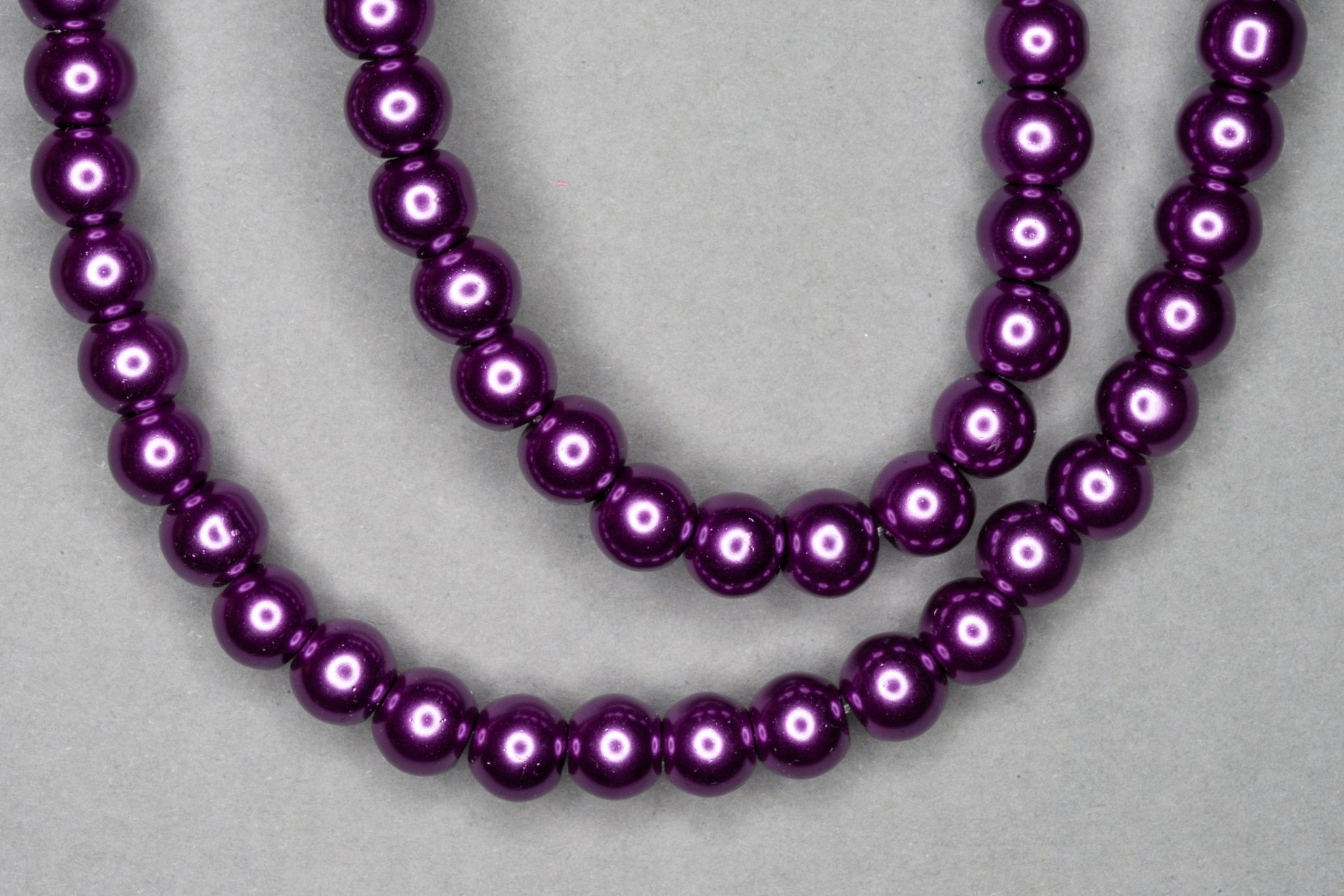 Aubergine Pearl Glass Beads