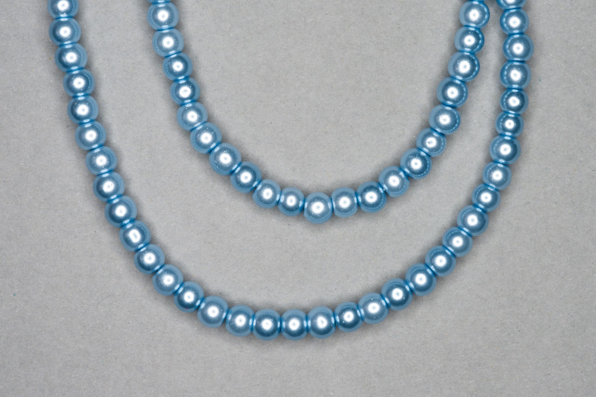Baby Blue Pearl Glass Beads