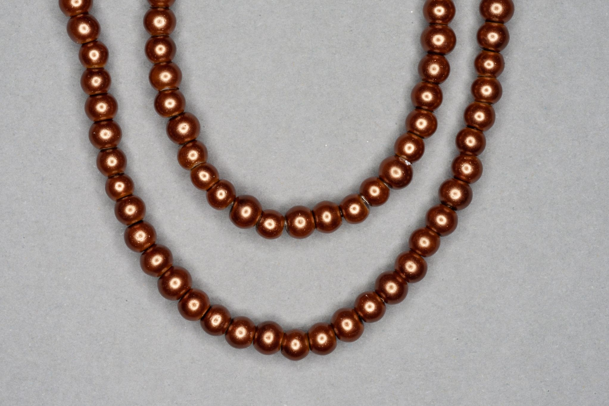 Brown Pearl Glass Beads