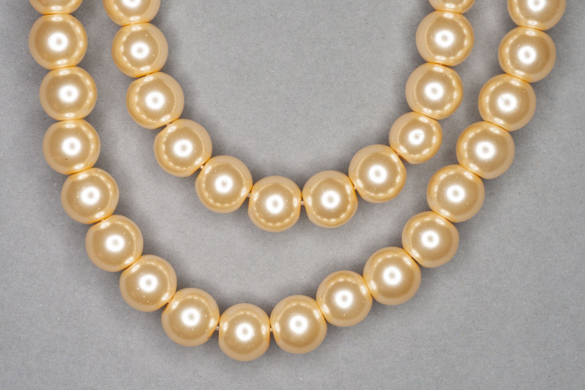 Custard Pearl Glass Beads