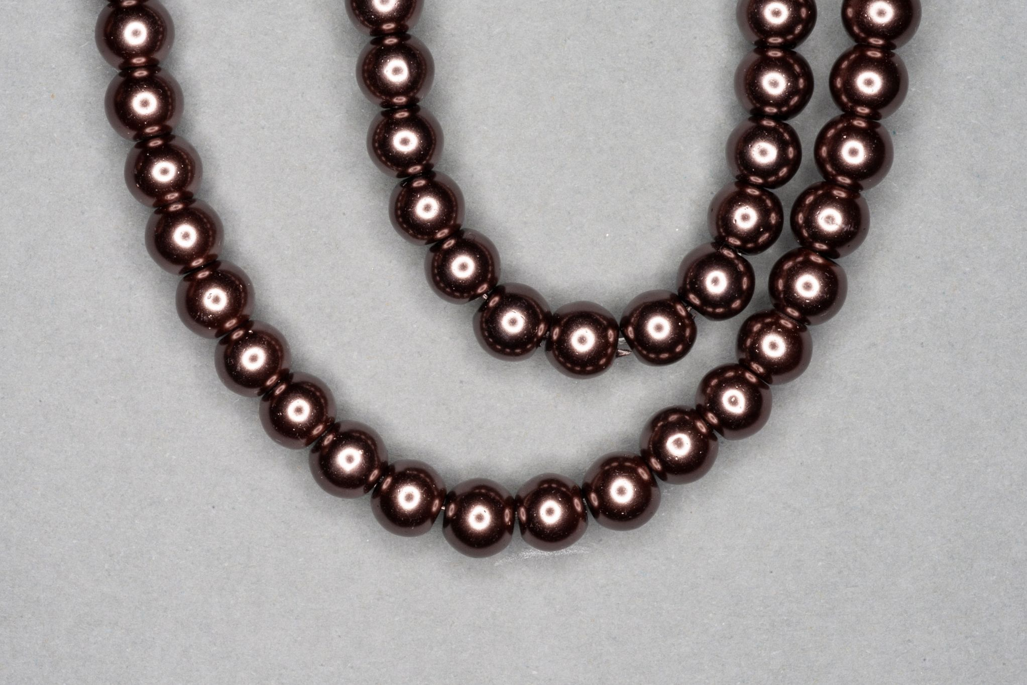 Dark Mocha Pearl Glass Beads