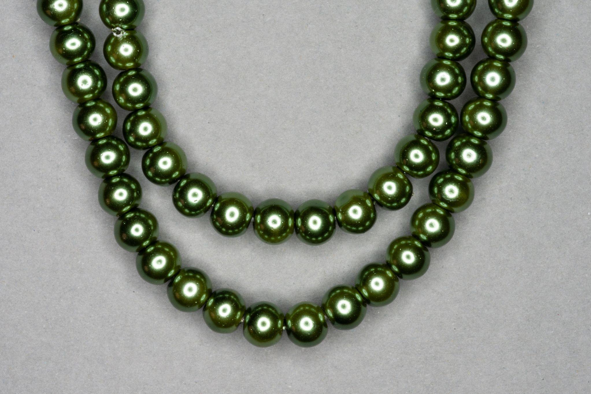 Fern Pearl Glass Beads