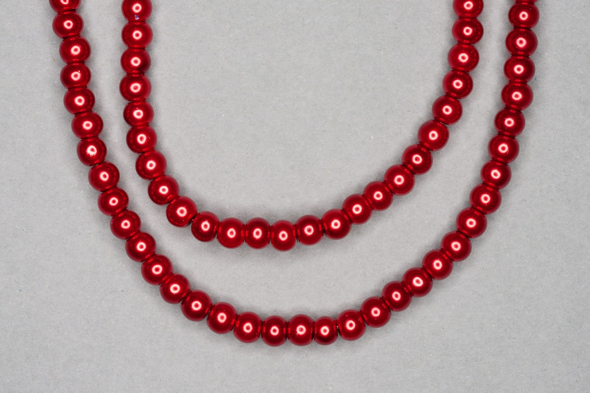 Red Pearl Glass Beads