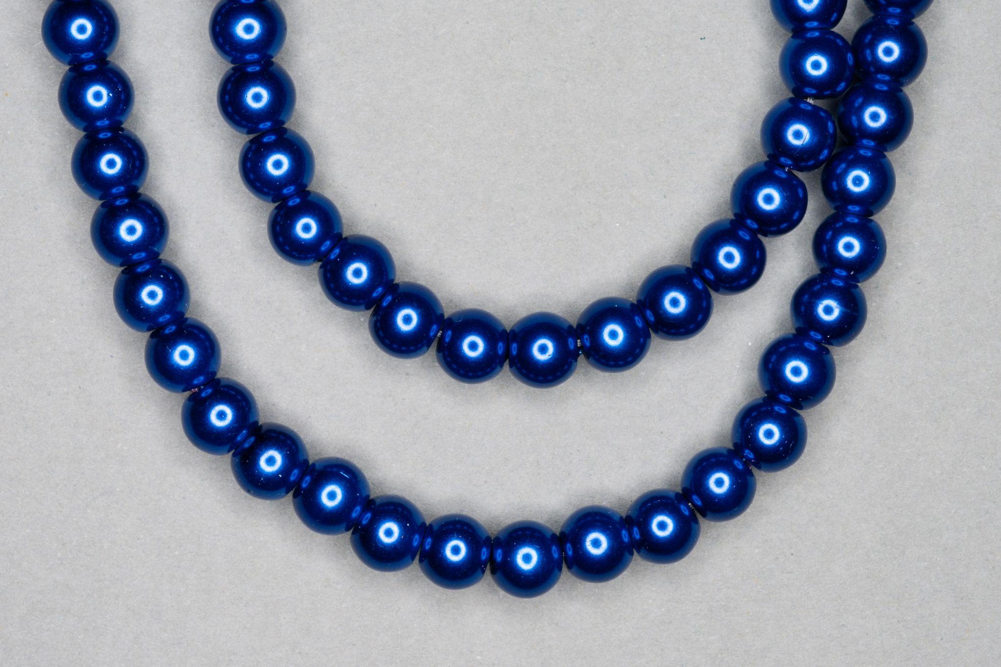 Sapphire Pearl Glass Beads