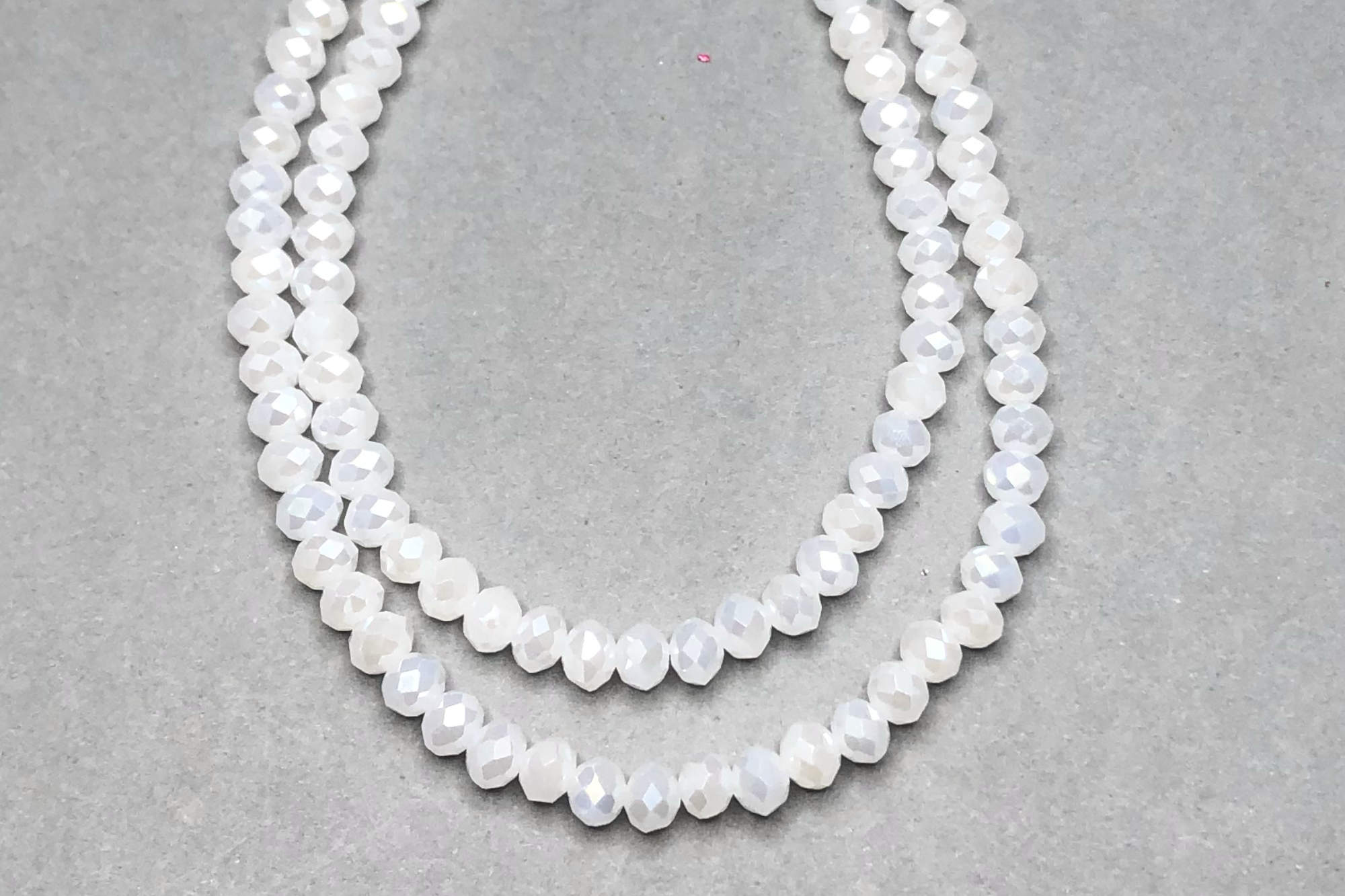 AB White Faceted Glass Beads *NEW*