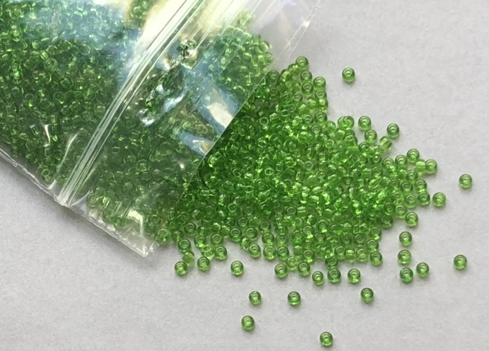 Transparent Green Seed Rocaille Glass Beads, 30g