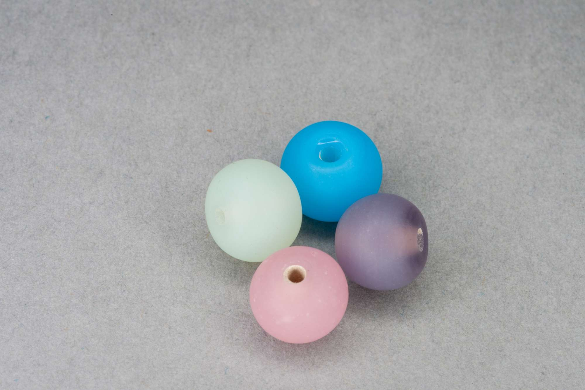 Matte Round Glass Bead, 8mm, 1mm Hole
