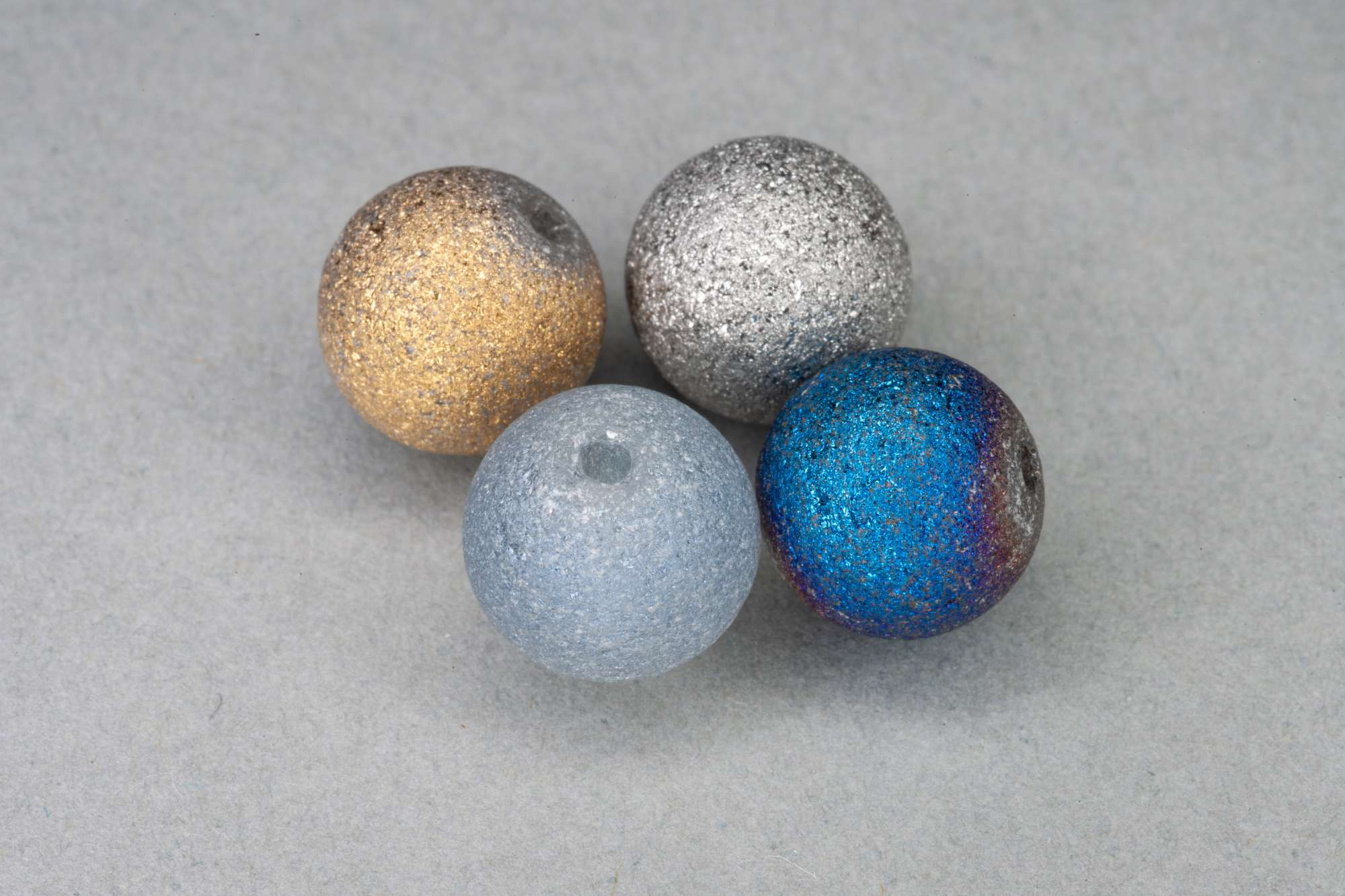 Textured Round Glass Bead, 10mm, 1mm Hole
