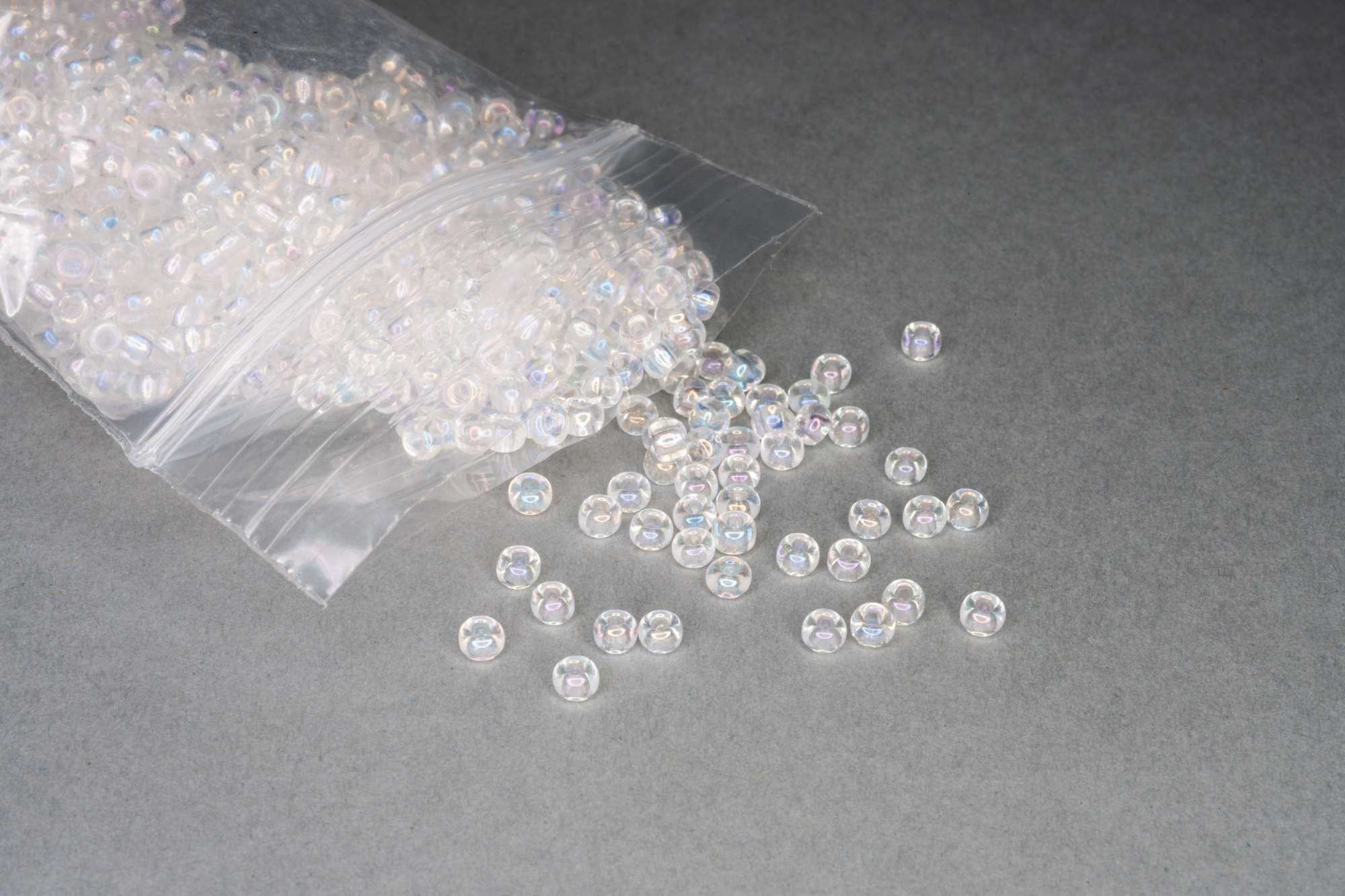 AB Clear Seed Rocaille Glass Beads, 30g