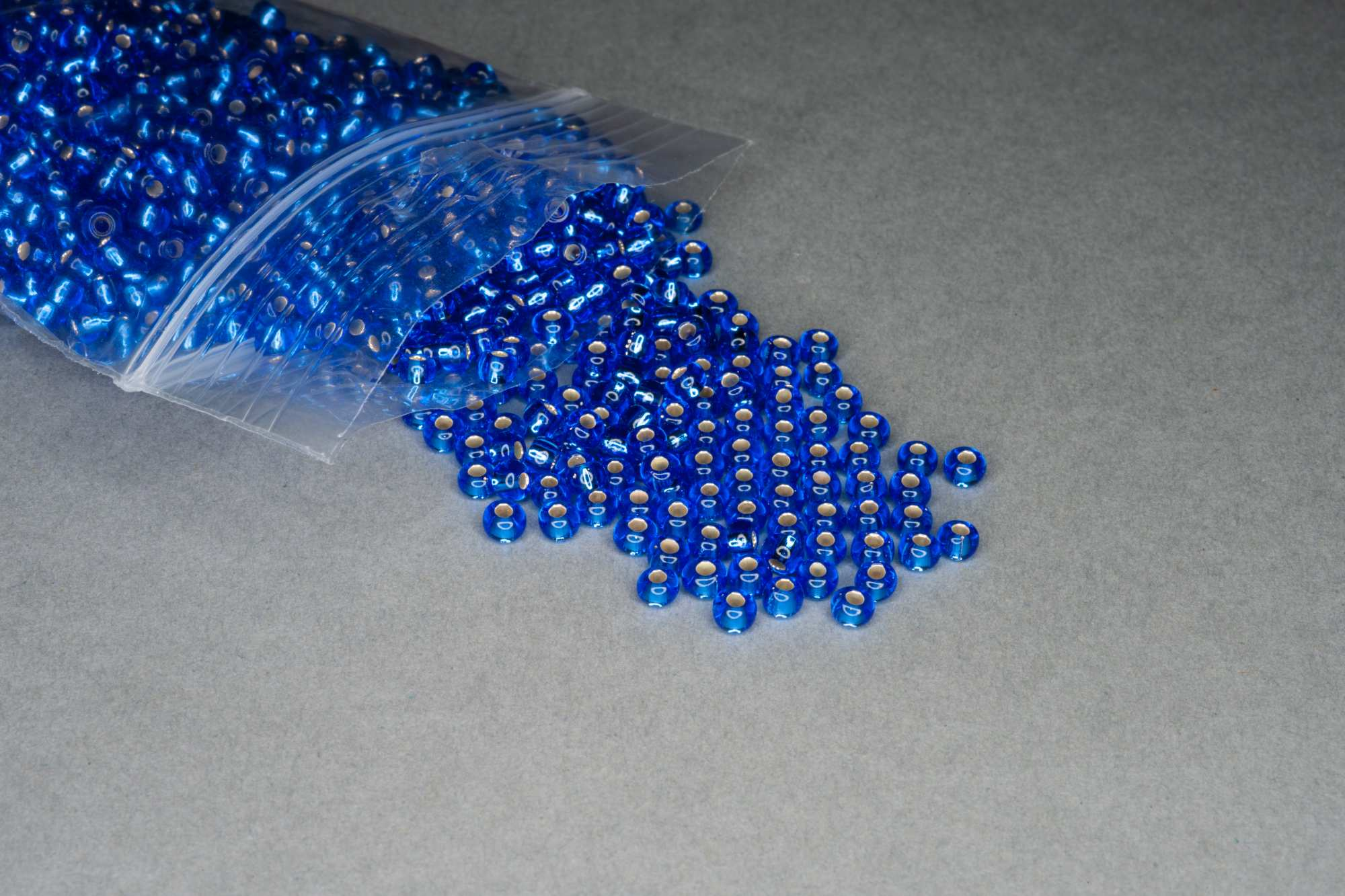 Silver Lined Royal Blue Seed Rocaille Glass Beads, 30g