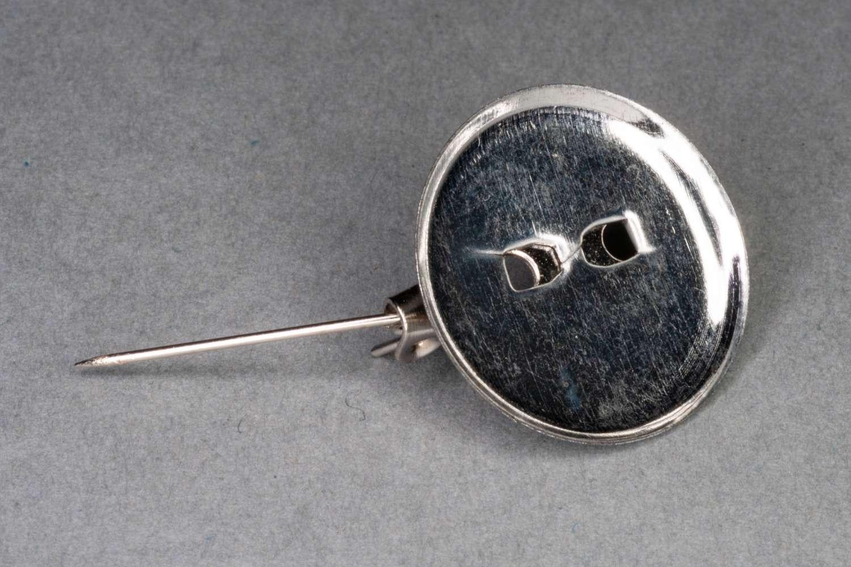 Round Concave Brooch Bar / 1.8cm