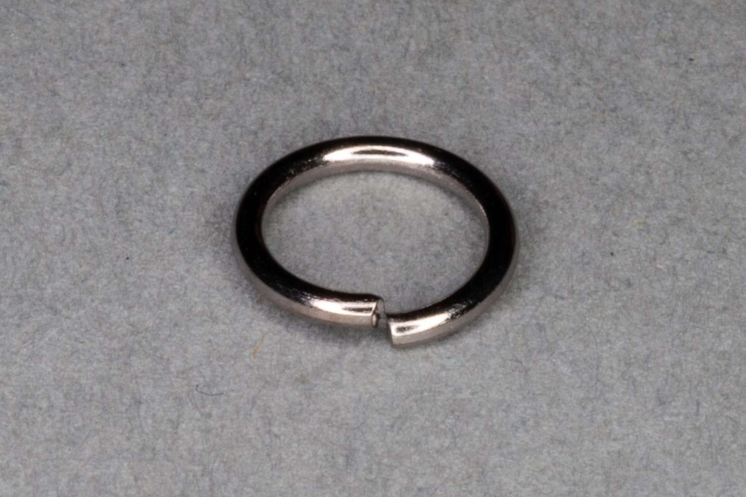 Dark Silver Plated Jump Ring, Pack of 100