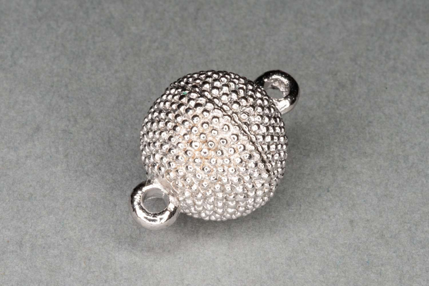Silver Plated Large Magnetic Round Clasp