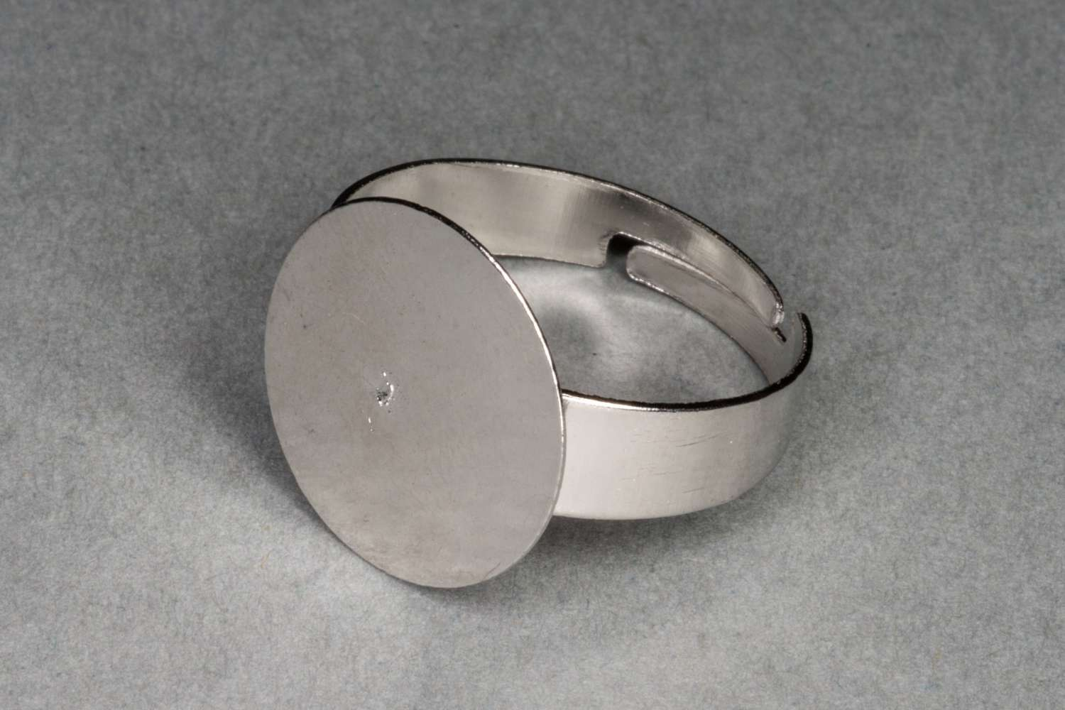 Large Silver Ring Base