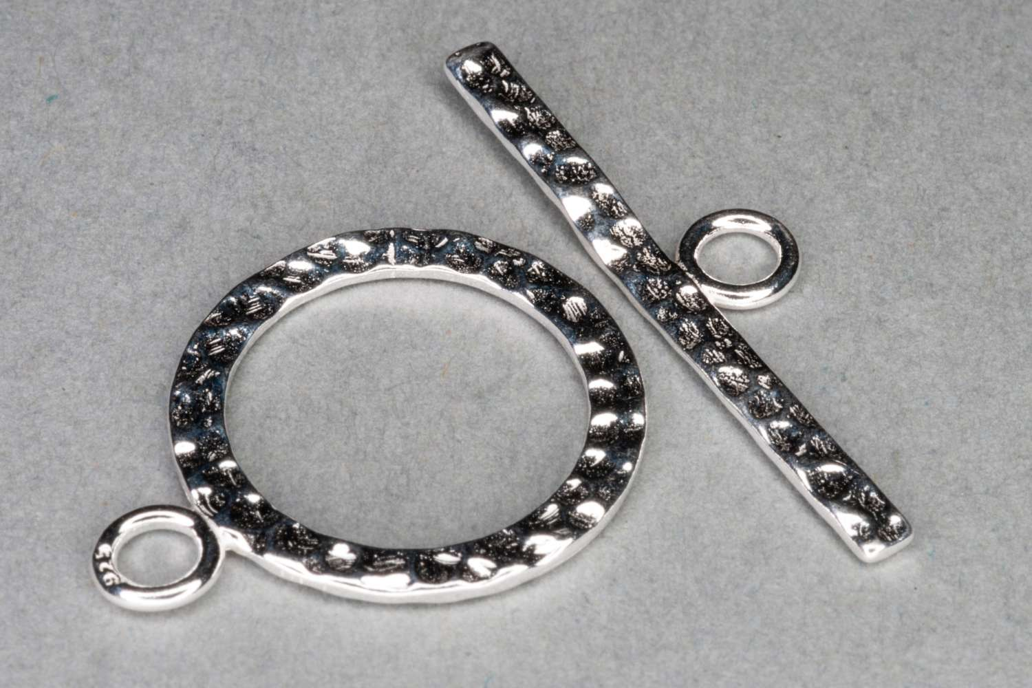 Silver Plated Hammered T-Bar Clasp