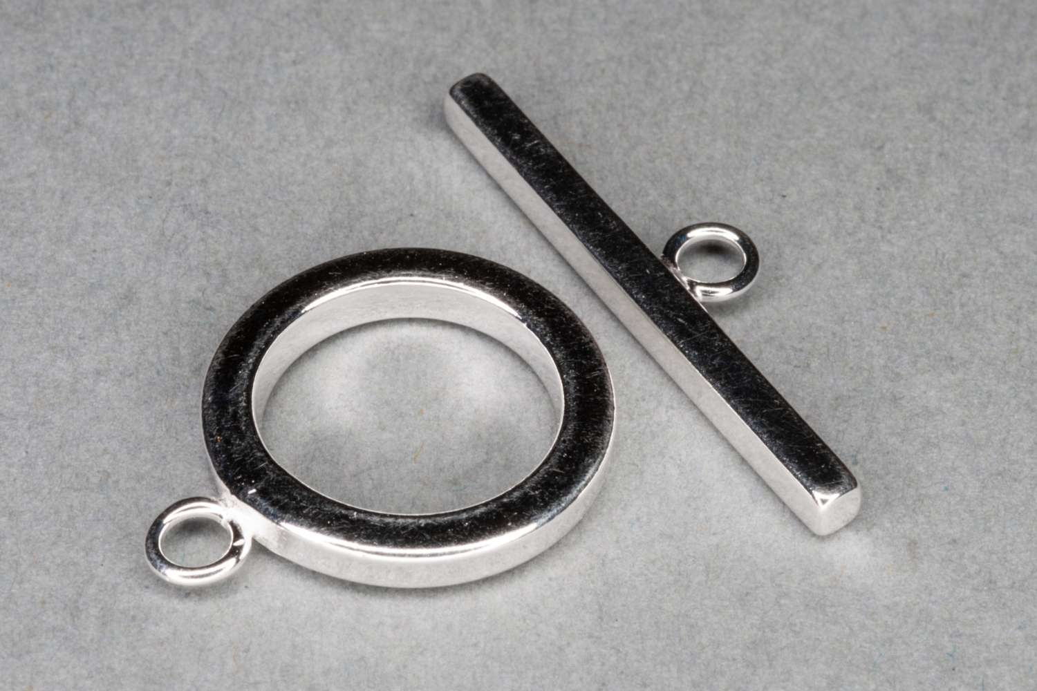 Sterling Silver Heavy T-Bar Clasp