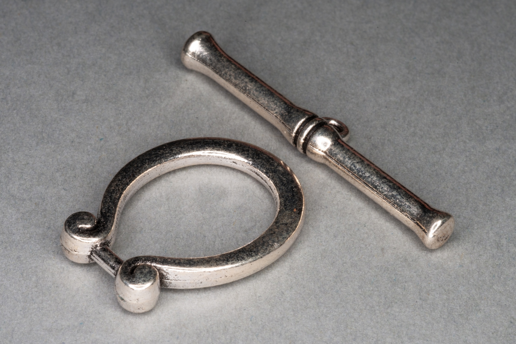 Silver Plated Large T-Bar Decorative Clasp